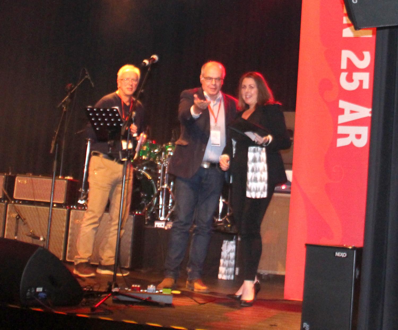 Gründerprisen gikk til Schei Jacobsen as, her ved Cathrine Jacobsen.