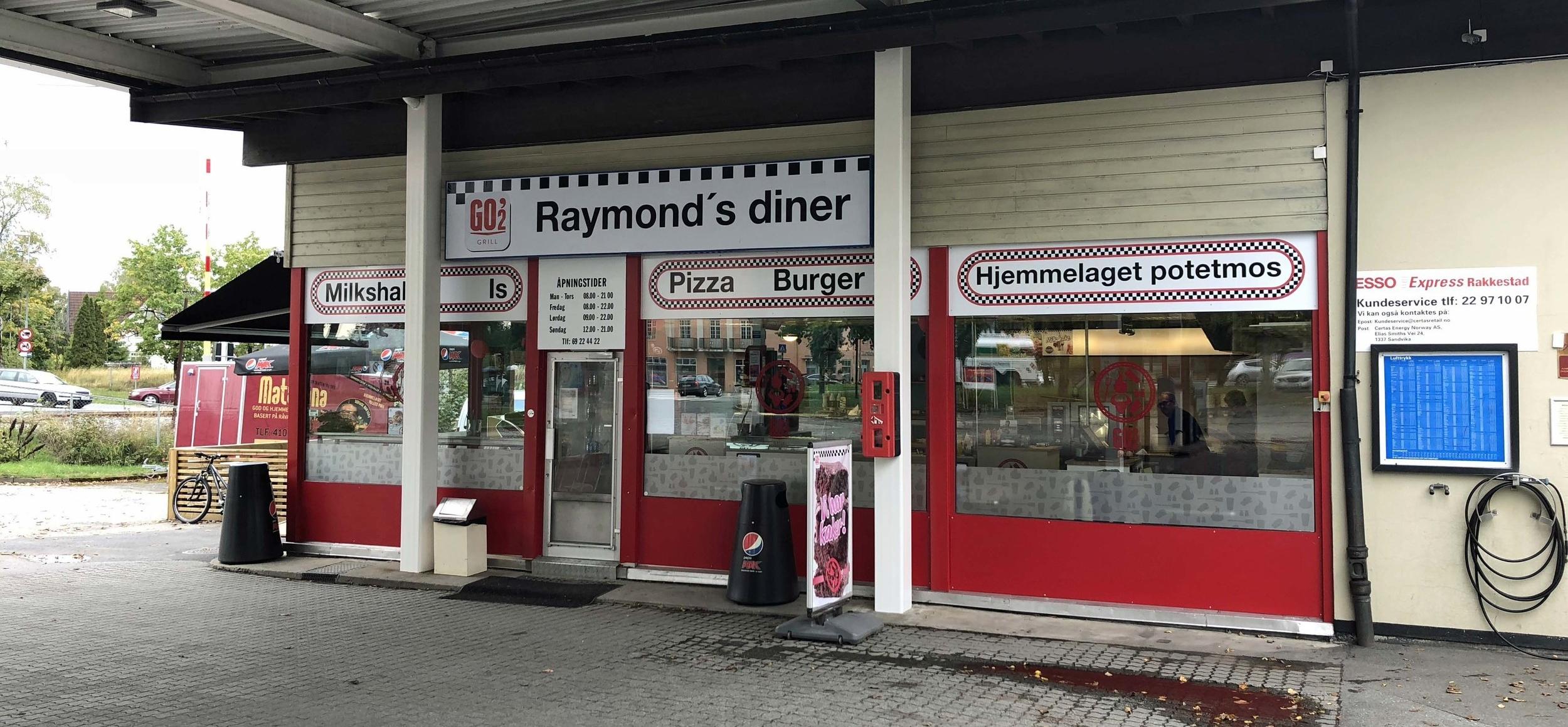 Raymond's Diner er GO'2 grill-profilert.