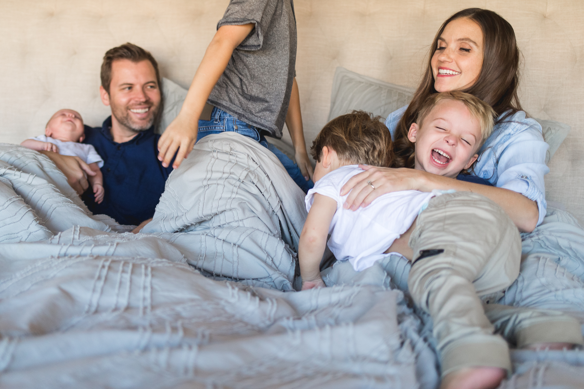 In-home infant and family session {Utah County baby photographer}