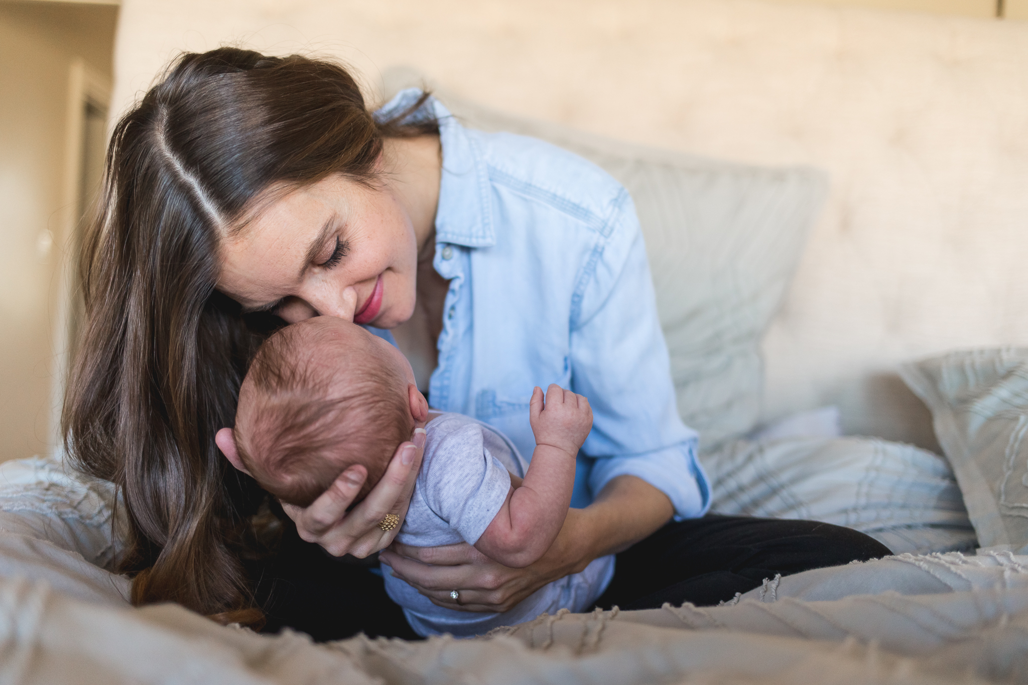 Bringing home baby photos {Highland UT family photographer}