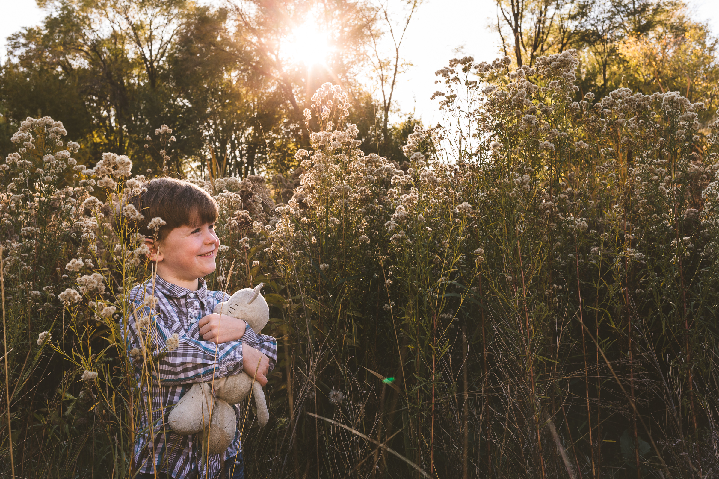 Fall golden hour session ~ big brother {Utah County family lifestyle photographer}