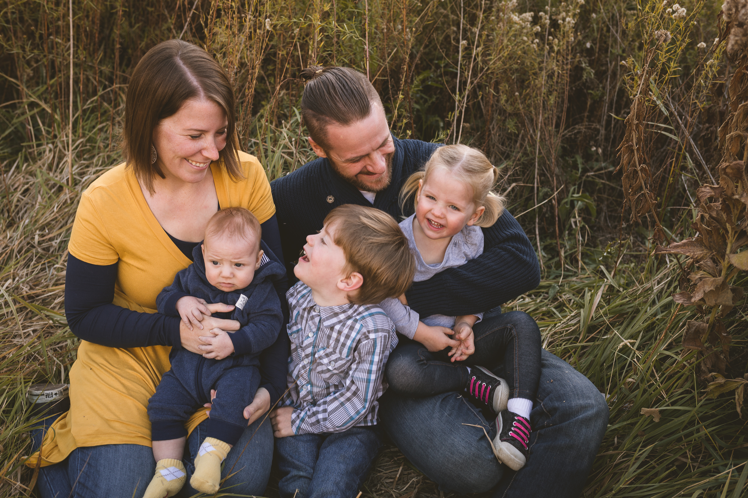Fall golden hour session ~ big brother, little sister, baby {Utah County family lifestyle photographer}