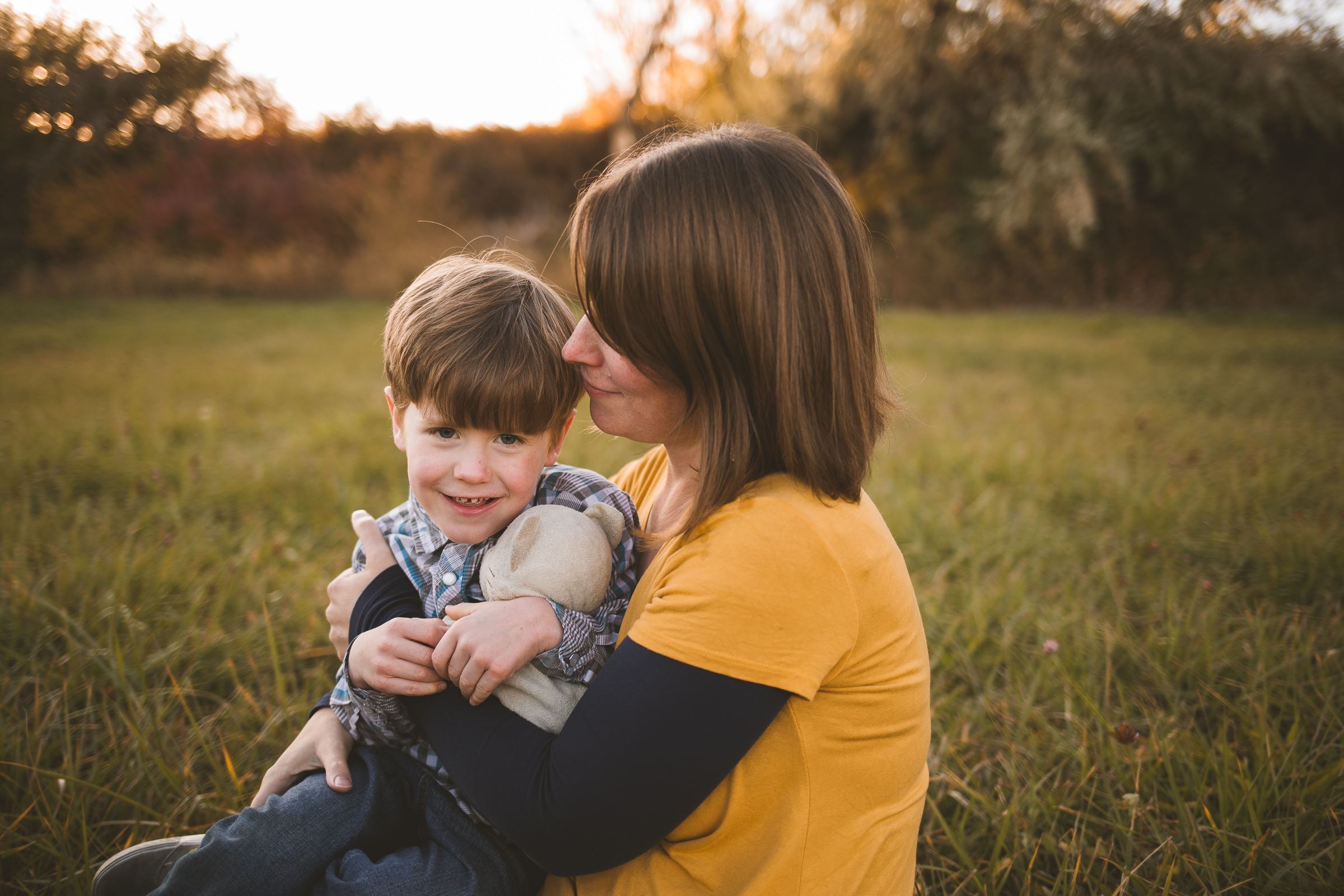 Family sunset lifestyle session ~ family, brother, sister, baby {Provo, American Fork Photographer}