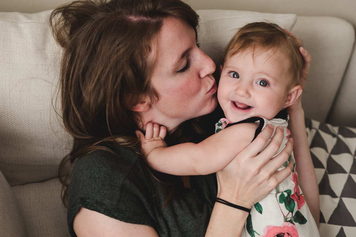 In-home lifestyle session ~ lunch hour photos {Highland UT family photographer}