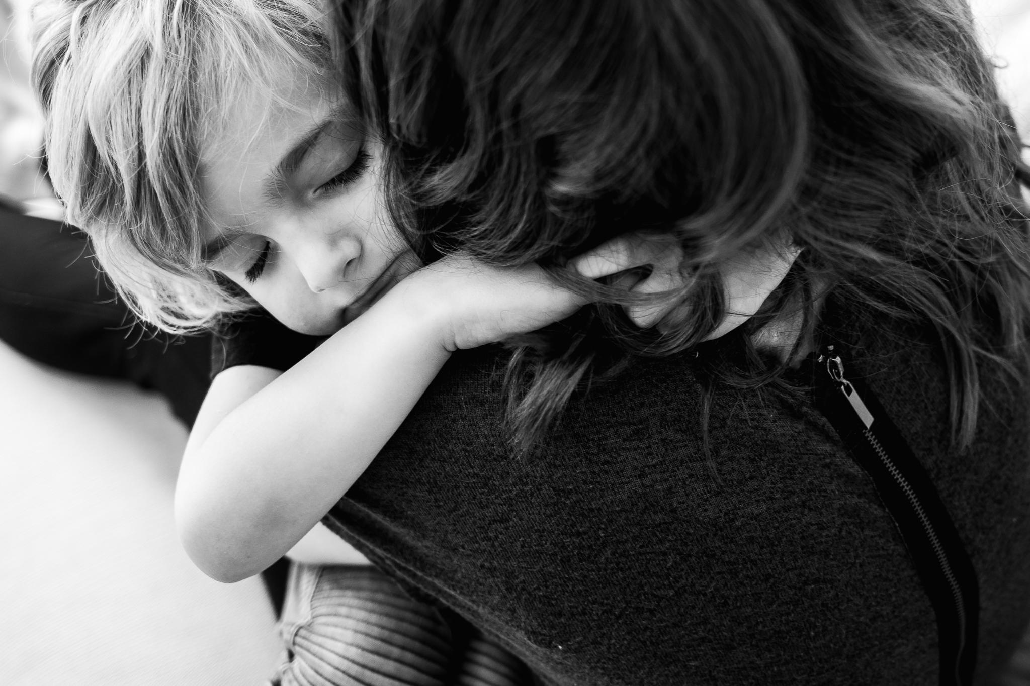 Little boy hugging mom - Utah family photographer