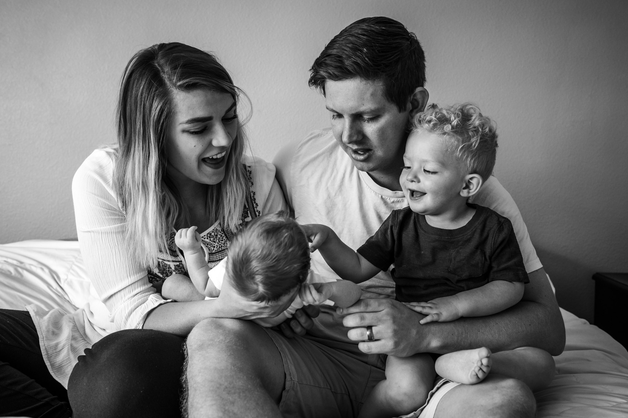 In-home baby session ~ newborn family session {Utah County family photographer}