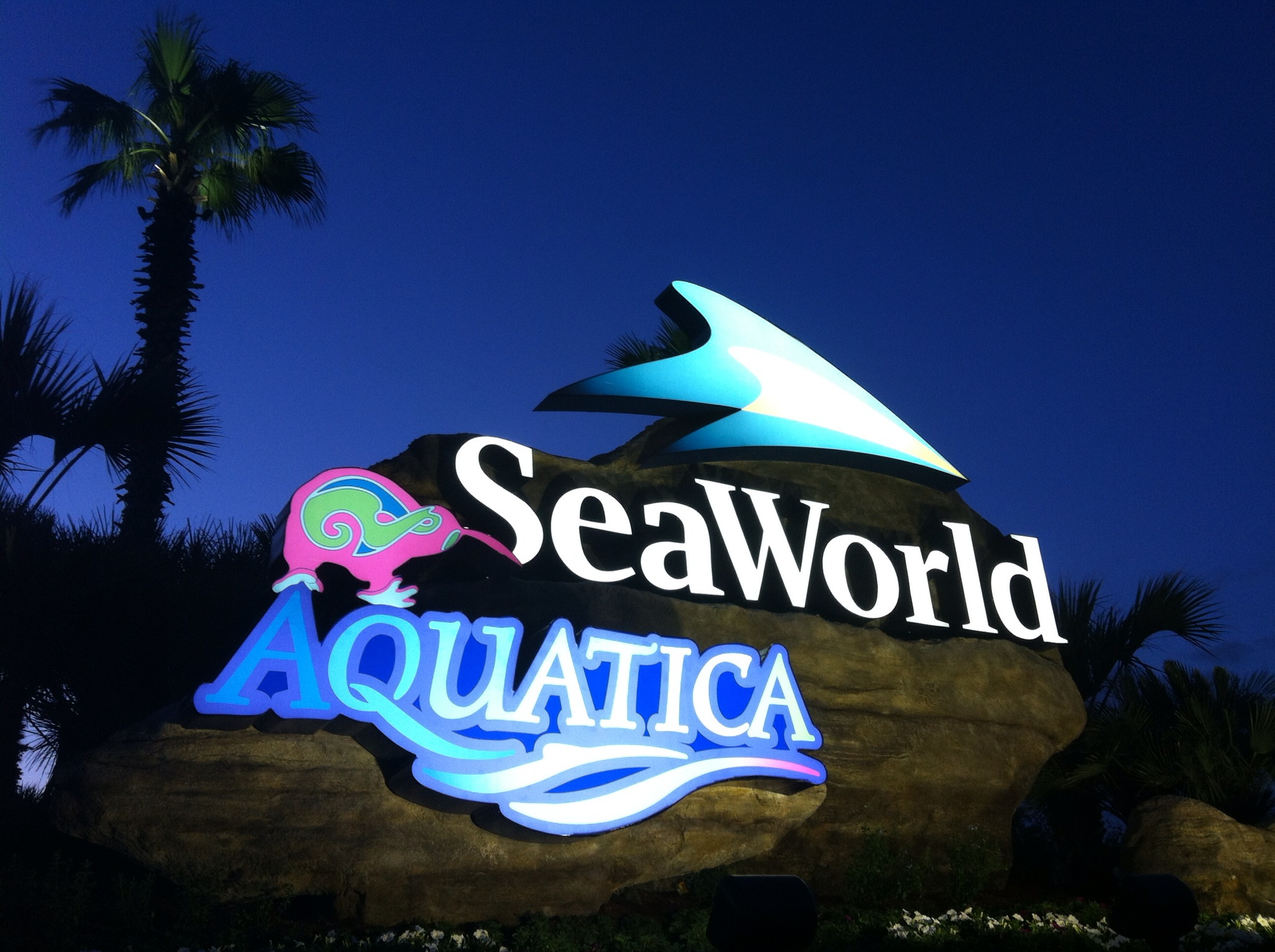 SEAWORLD ENTRY SIGN