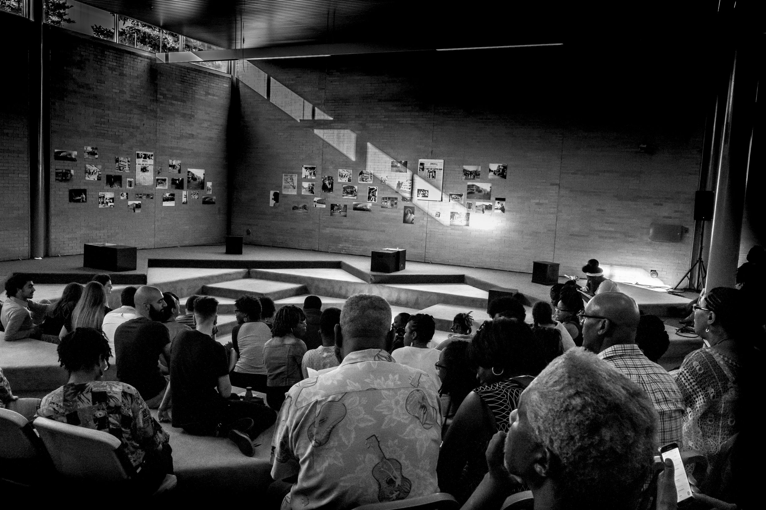 Audience awaits the start of AFTER/LIFE on Friday, July 28, 2017 at the Joseph Walker Williams Recreation Center, Detroit, MI. Photo credit: Mark Sullivan