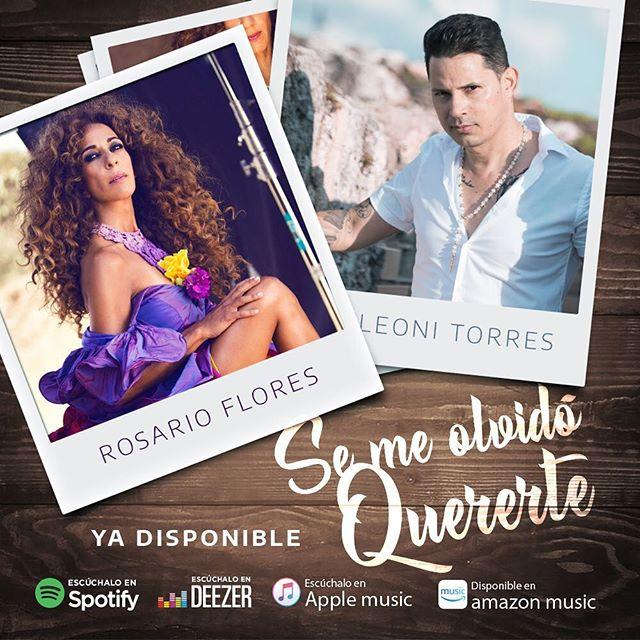 Búscala ya en tu plataforma favorita #SeMeOlvidoQuererte #LeoniTorres y #RosarioFlores  #puntillamusic #universalmusic