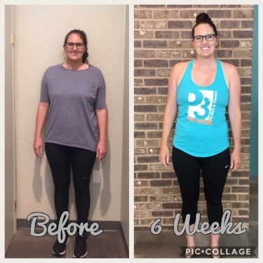 Molly was postpartum going into our challenge & was able to lose the baby weight that she gained! She found some healthy recipes for her &her family that she loves and also noticed she has more energy & feels stronger!      *Results may vary person to person