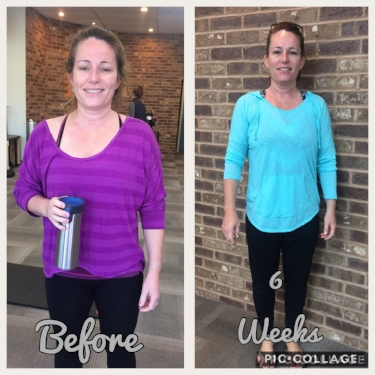 Andrea lost over 7lbs and 3% body fat!After the challenge, Andrea said she has alleviated aches and pains,sleeps better, and noticed she is leaner and is standing taller.She even said that she now cooks healthier for her and her family!      *Results may vary person to person