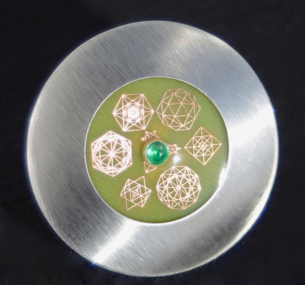 Advanced IConnect with Emerald Cabochon Gem