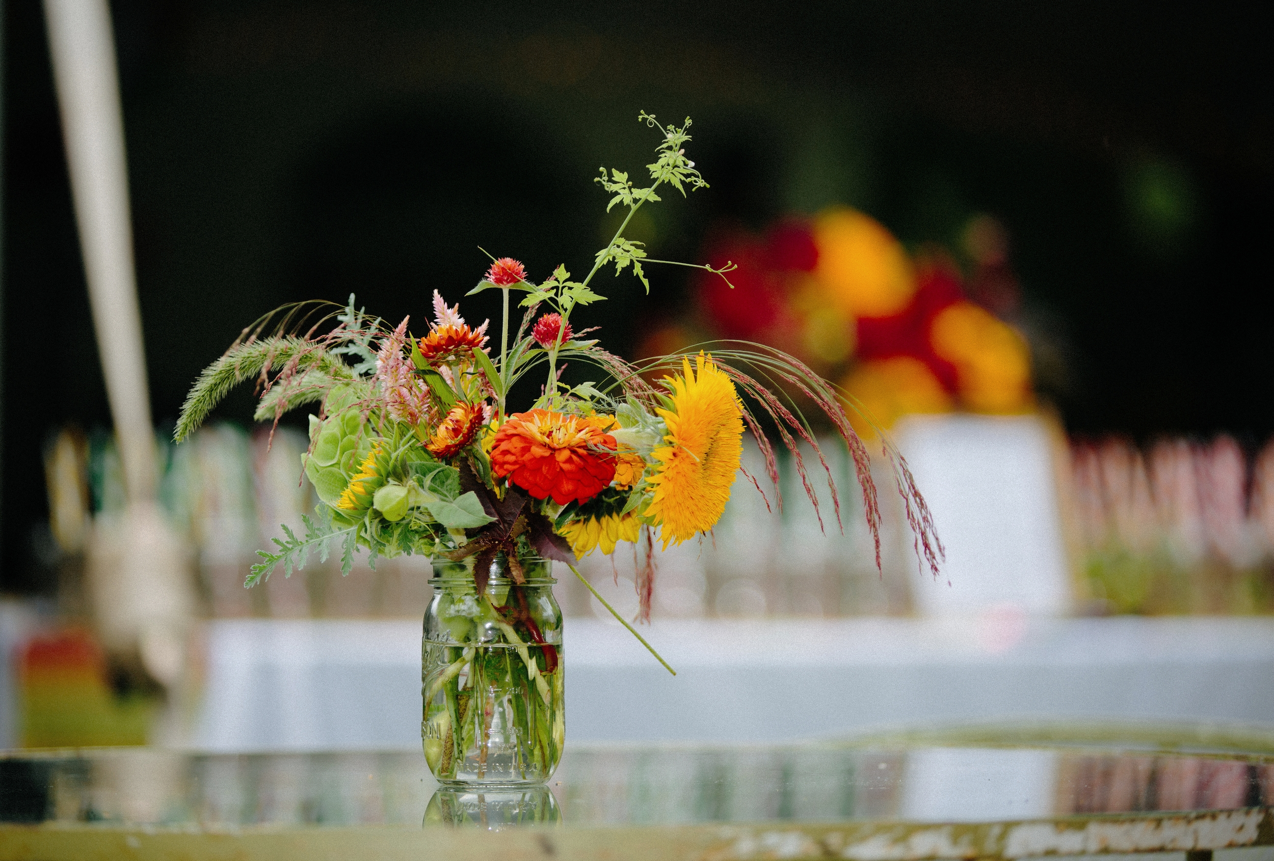 seasonal wedding arrangements