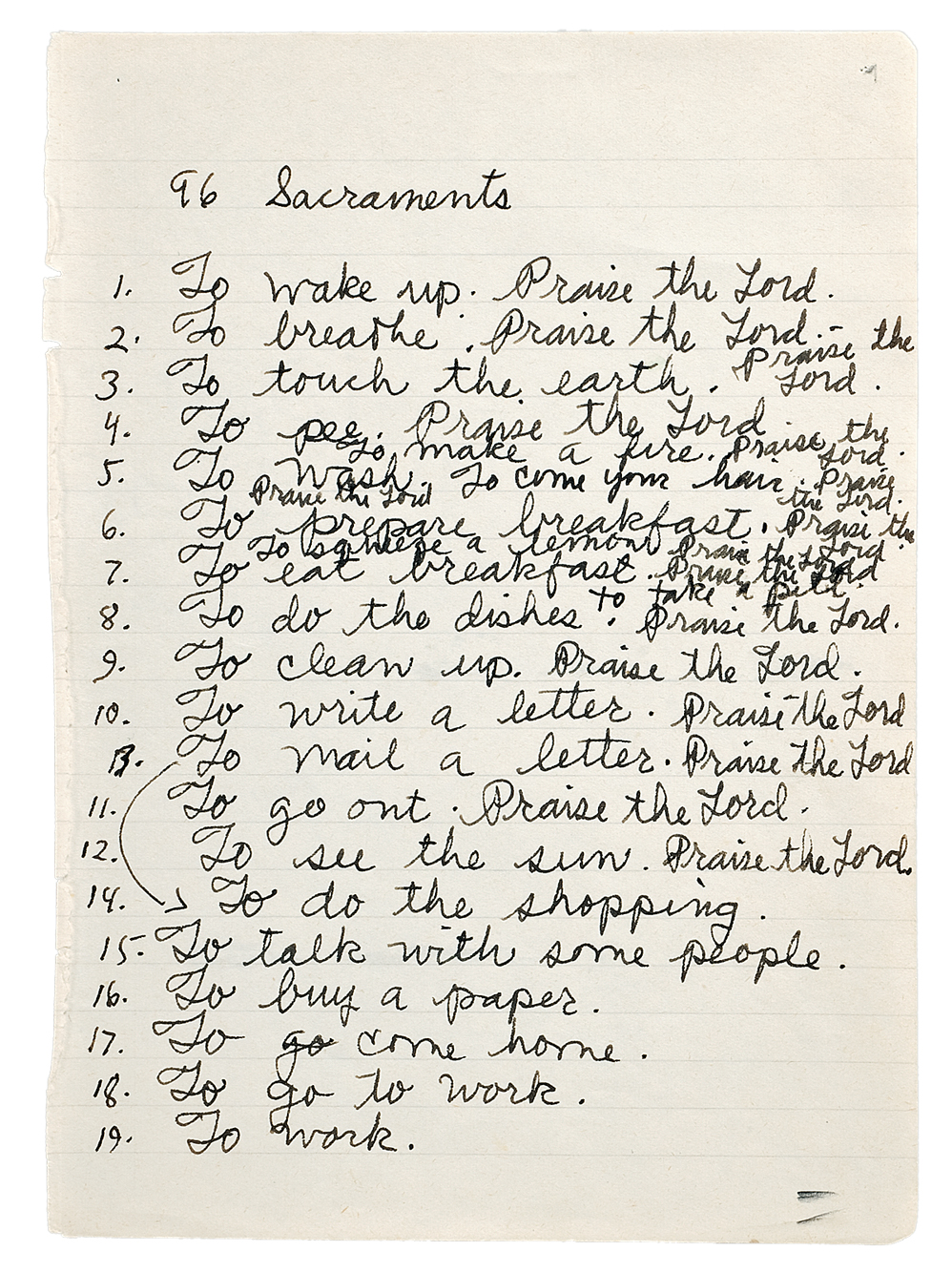 Page from Thek's notebook #75, c. 1975. Watermill Center Collection; courtesy Alexander and Bonin, New York ©Estate of George Paul Thek, Courtesy Alexander and Bonin, New York