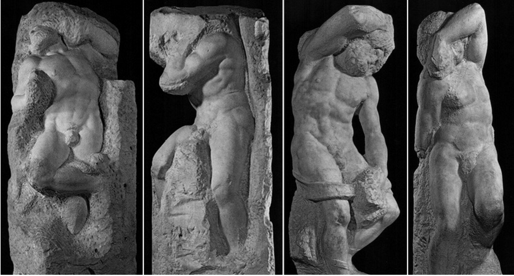 Michelangelo's  Prigioni  (1513-1534)