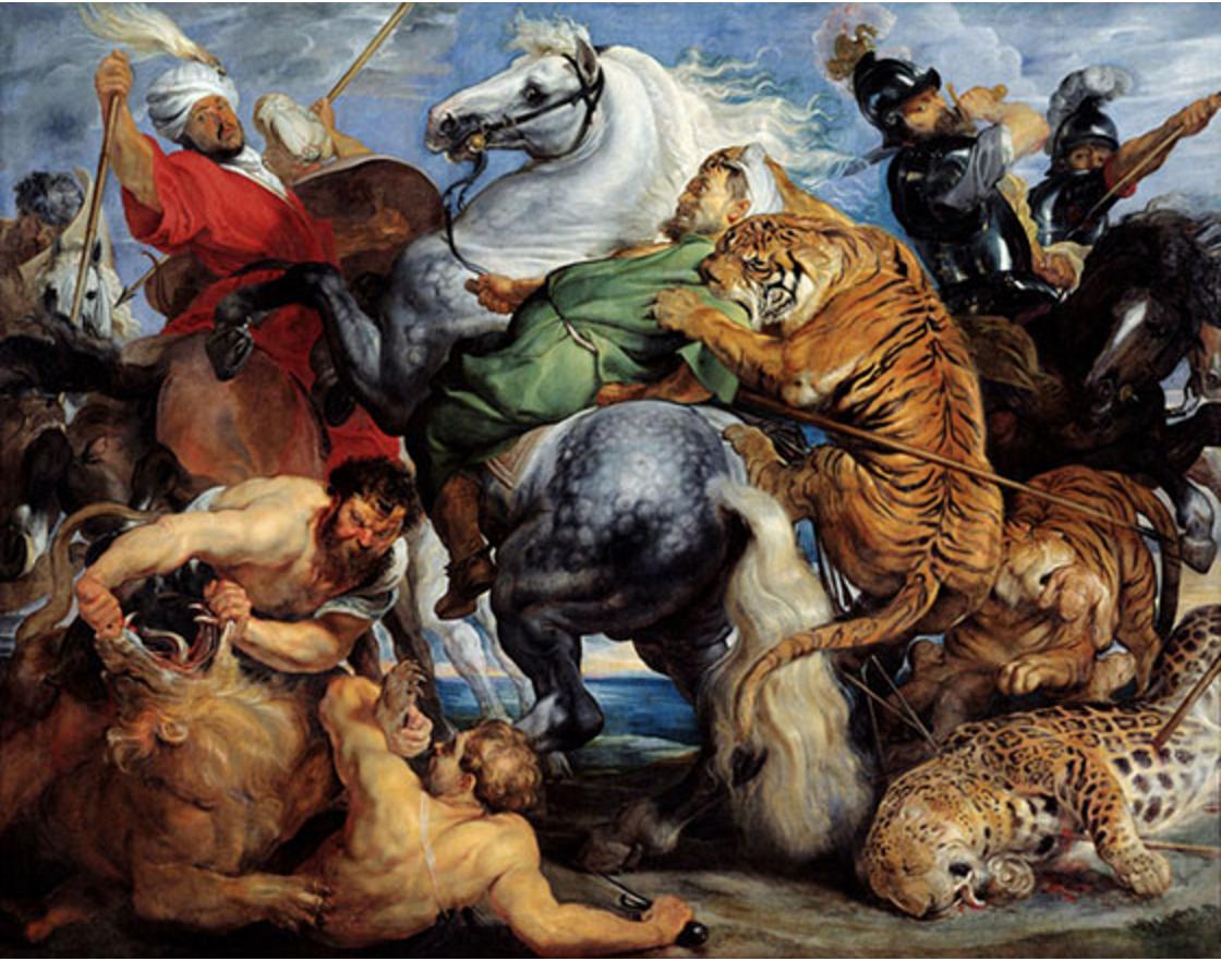 Paul Peter Ruebens, The Tiger Hunt , 1615