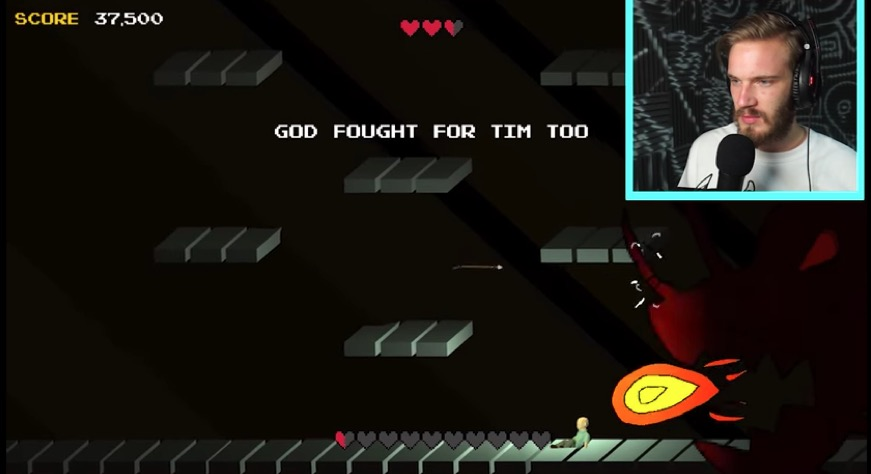 Image Courtesy of the Game Player-Pewdiepie who showed his respect playing Ryan Green's That dragon, cancer:(Photo source, https://www.youtube.com/watch?v=xBQYLXX2Mk0 (2016)   )