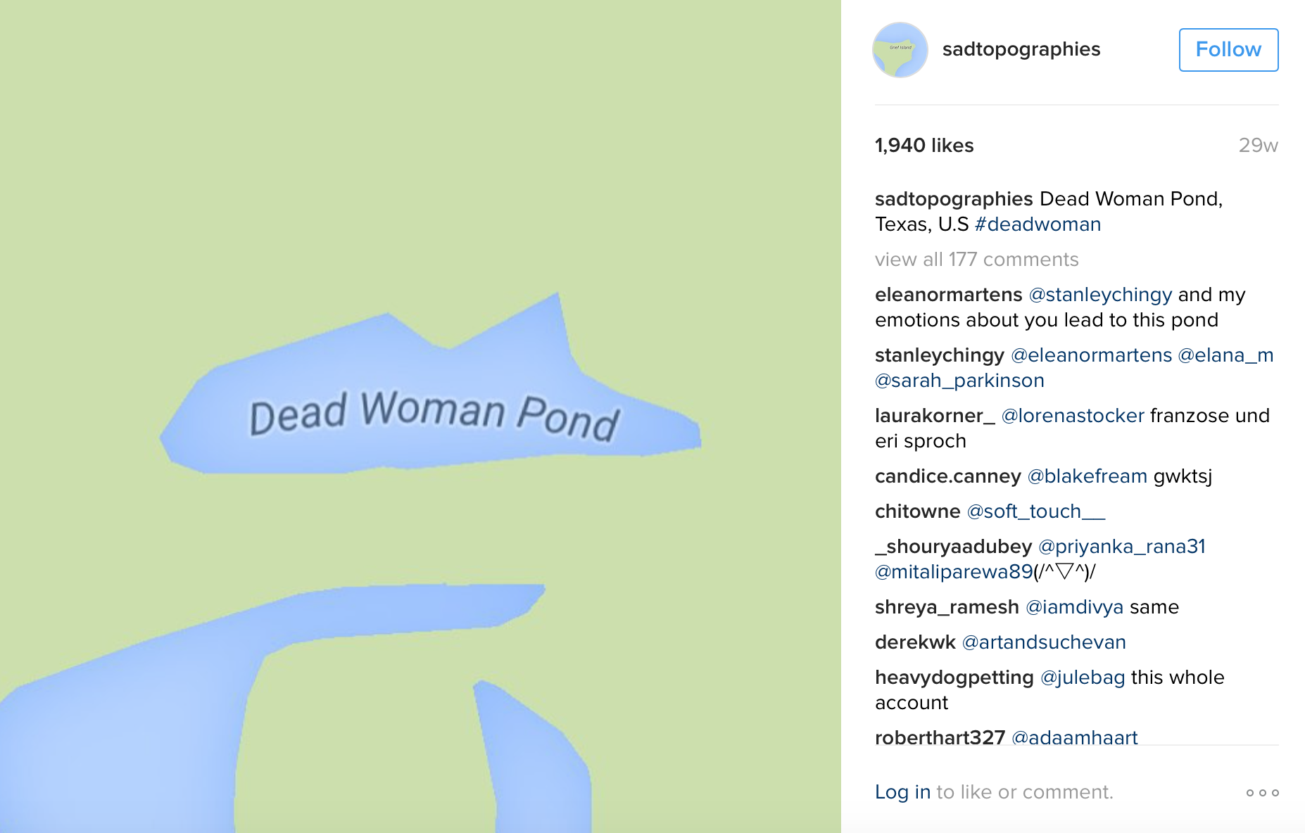 @sadtopographies  (2015-present)  Images courtesy of artist