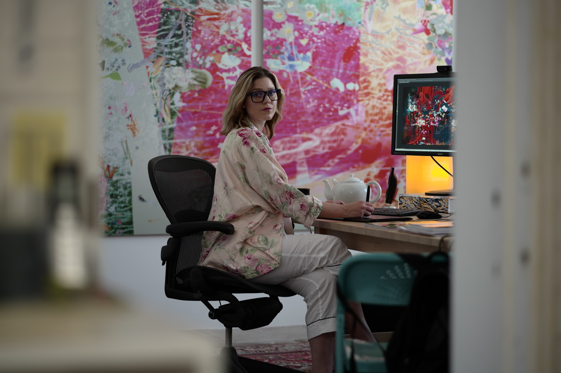 Cortright working, via Artsy