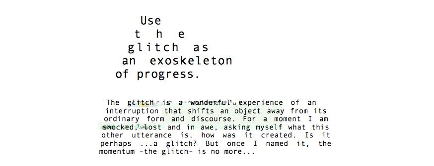 Image is a screenshot from Glitch Studies Manifesto .pdf -http://amodern.net/wp-content/uploads/2016/05/2010_Original_Rosa-Menkman-Glitch-Studies-Manifesto.pdf