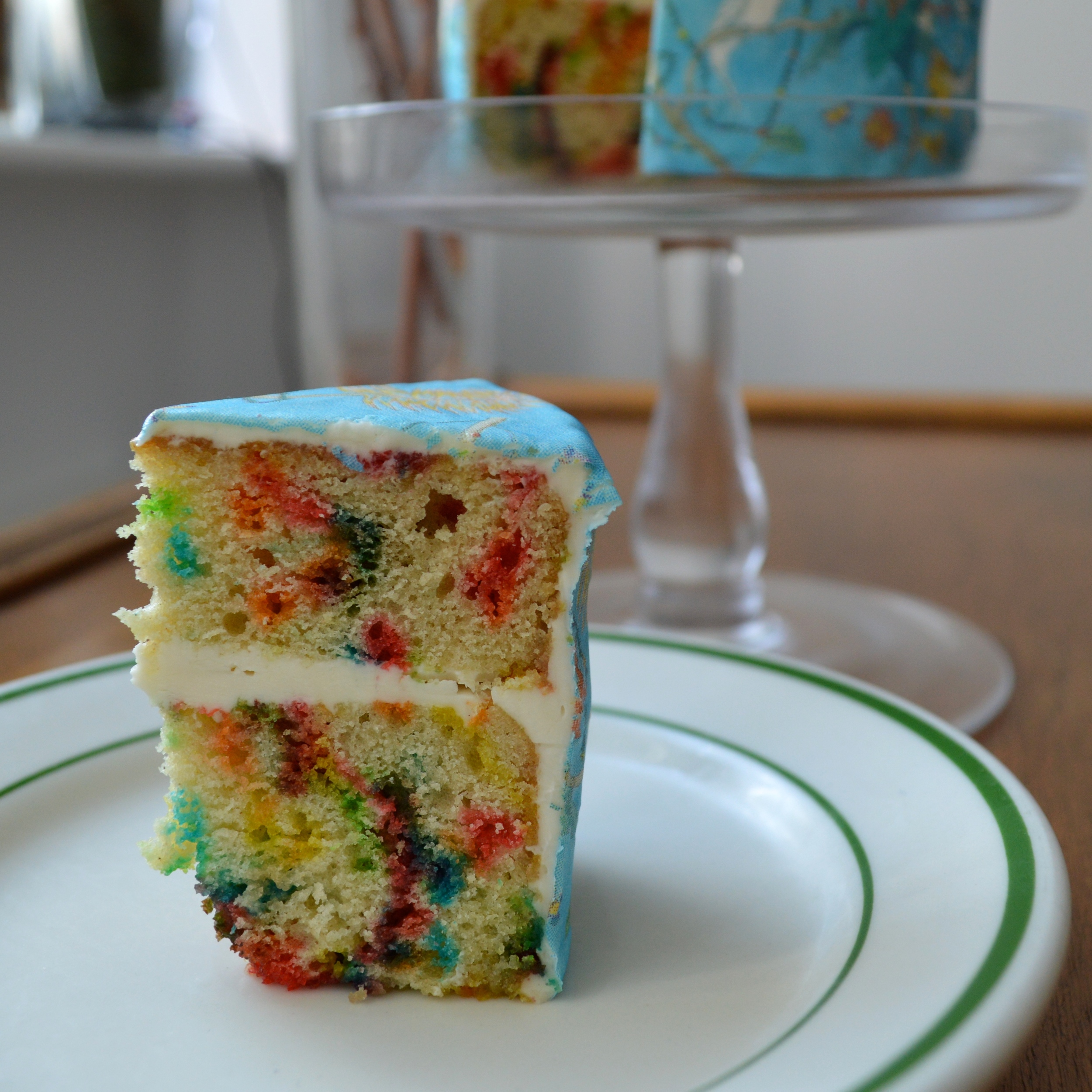 Confetti Cake with  St. Barthélemy sheet
