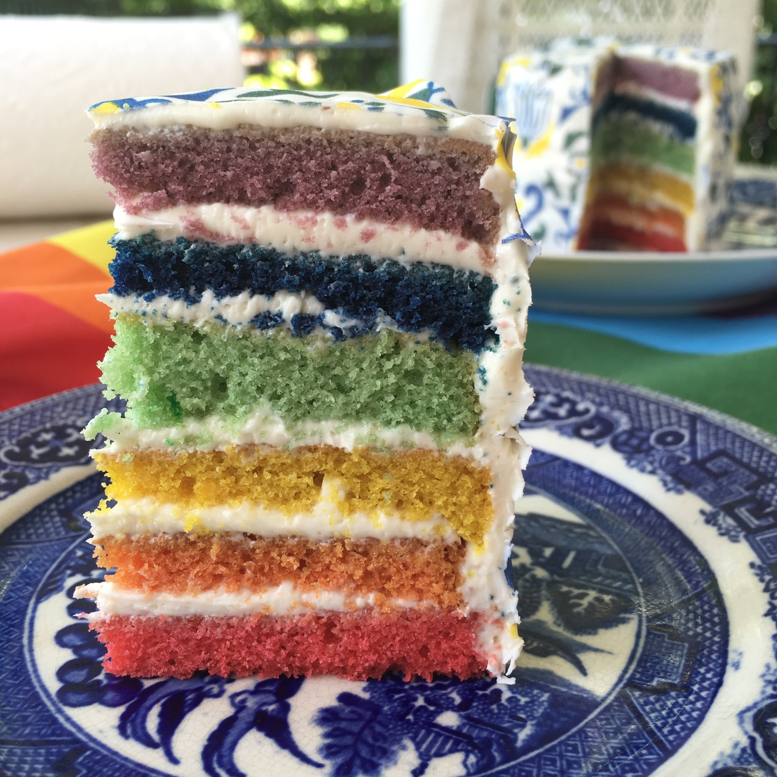 Rainbow Pride Cake with  Amsterdam  Chefanie Sheet