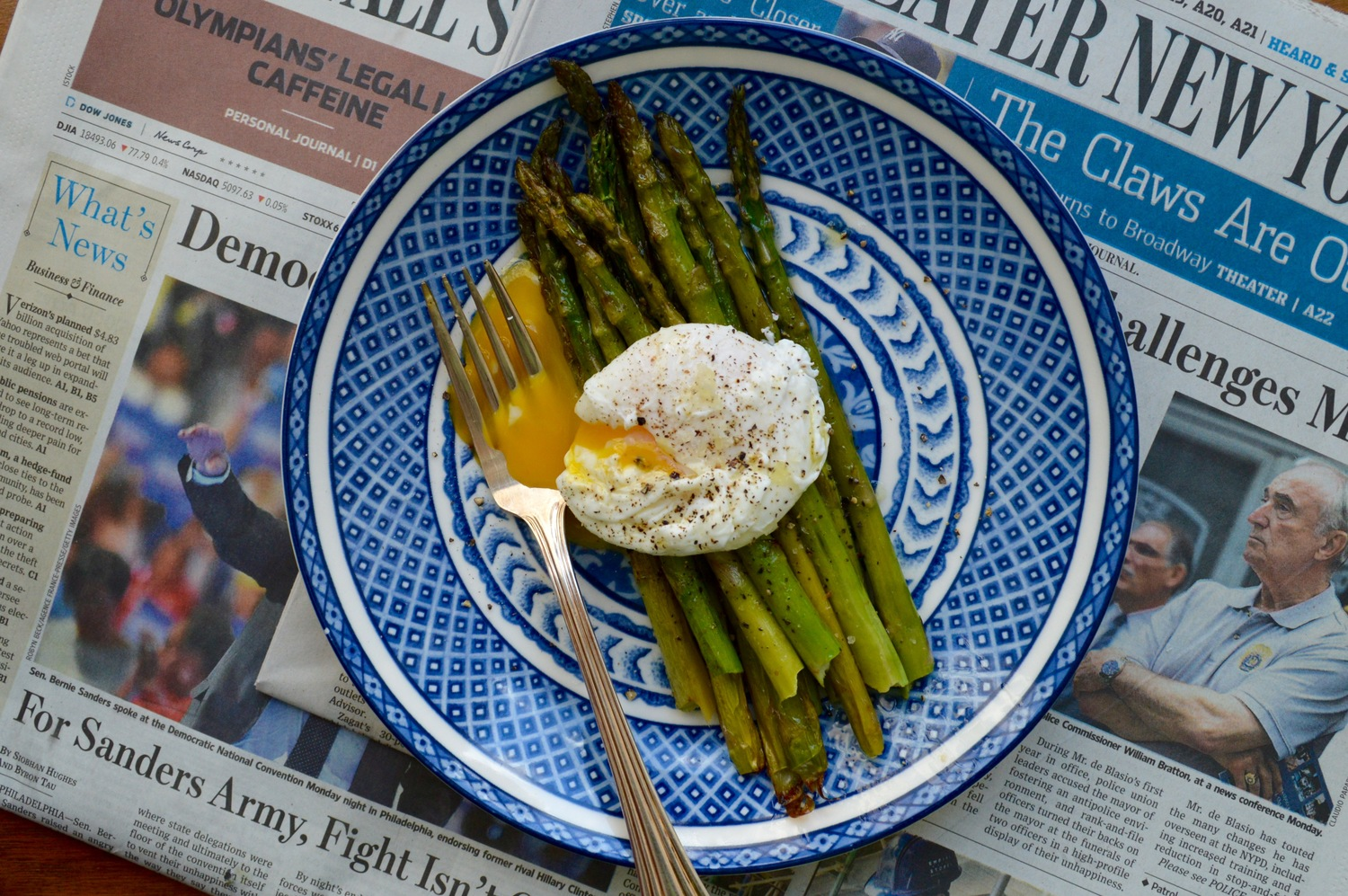 Roasted Asparagus and Poached Egg