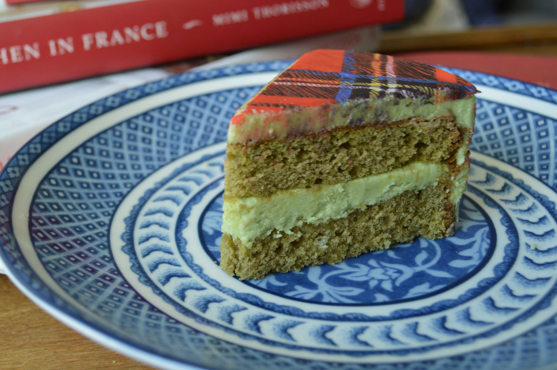 Matcha Cake with  Tartan #ChefanieSheet