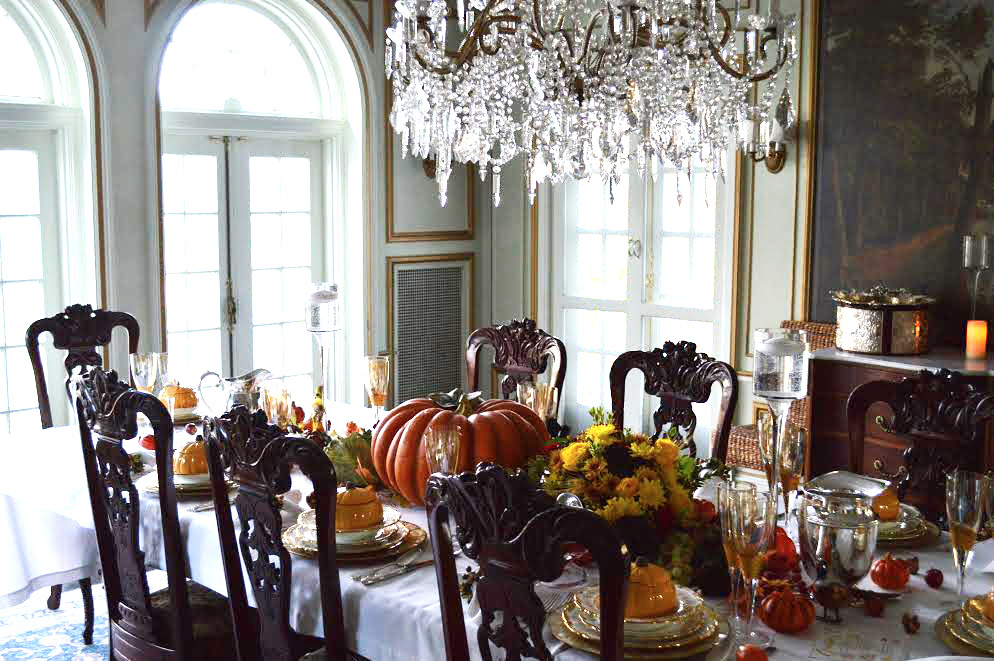 Chefanie's Thanksgiving tablescape at her family home in New York.