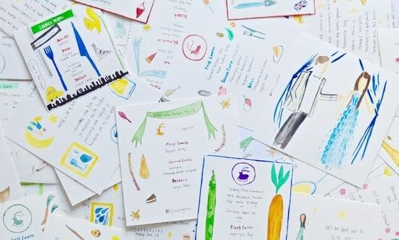watercolor invitations menus victory club.jpeg
