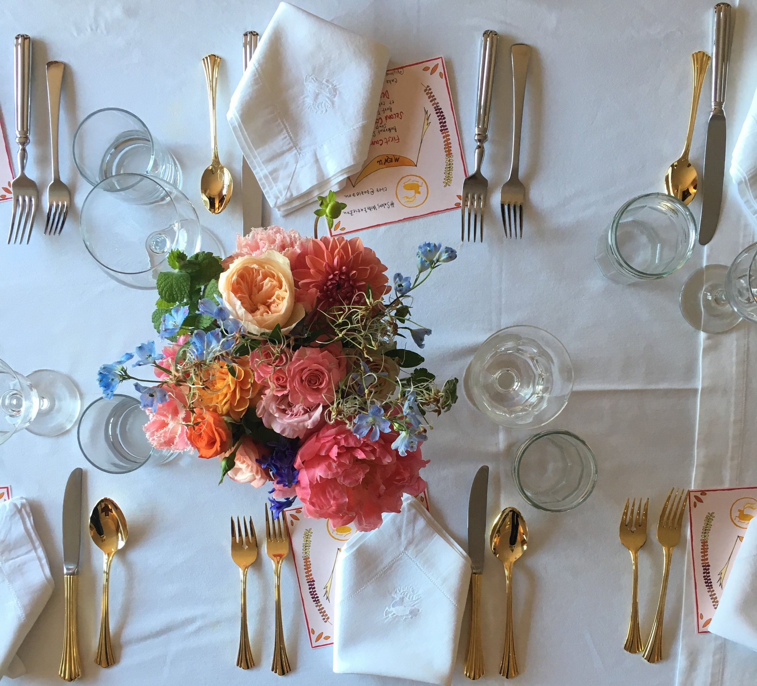 Table Setting for  Victory Club  event with  Alexandra Porter