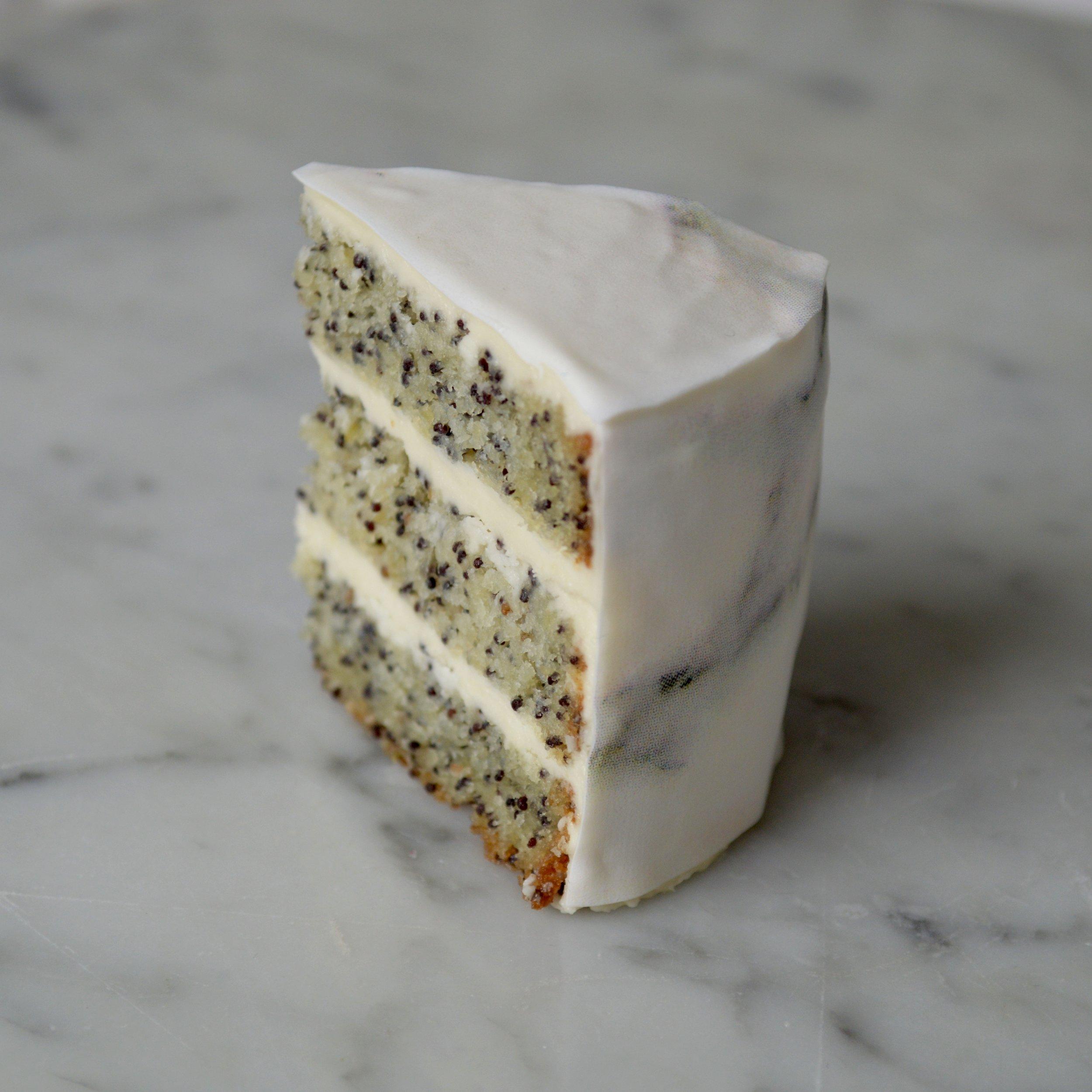 Poppyseed Cake that looks like Marble