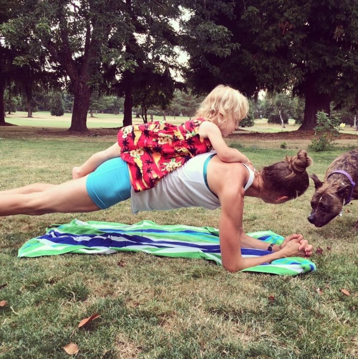 Julia Webb planking