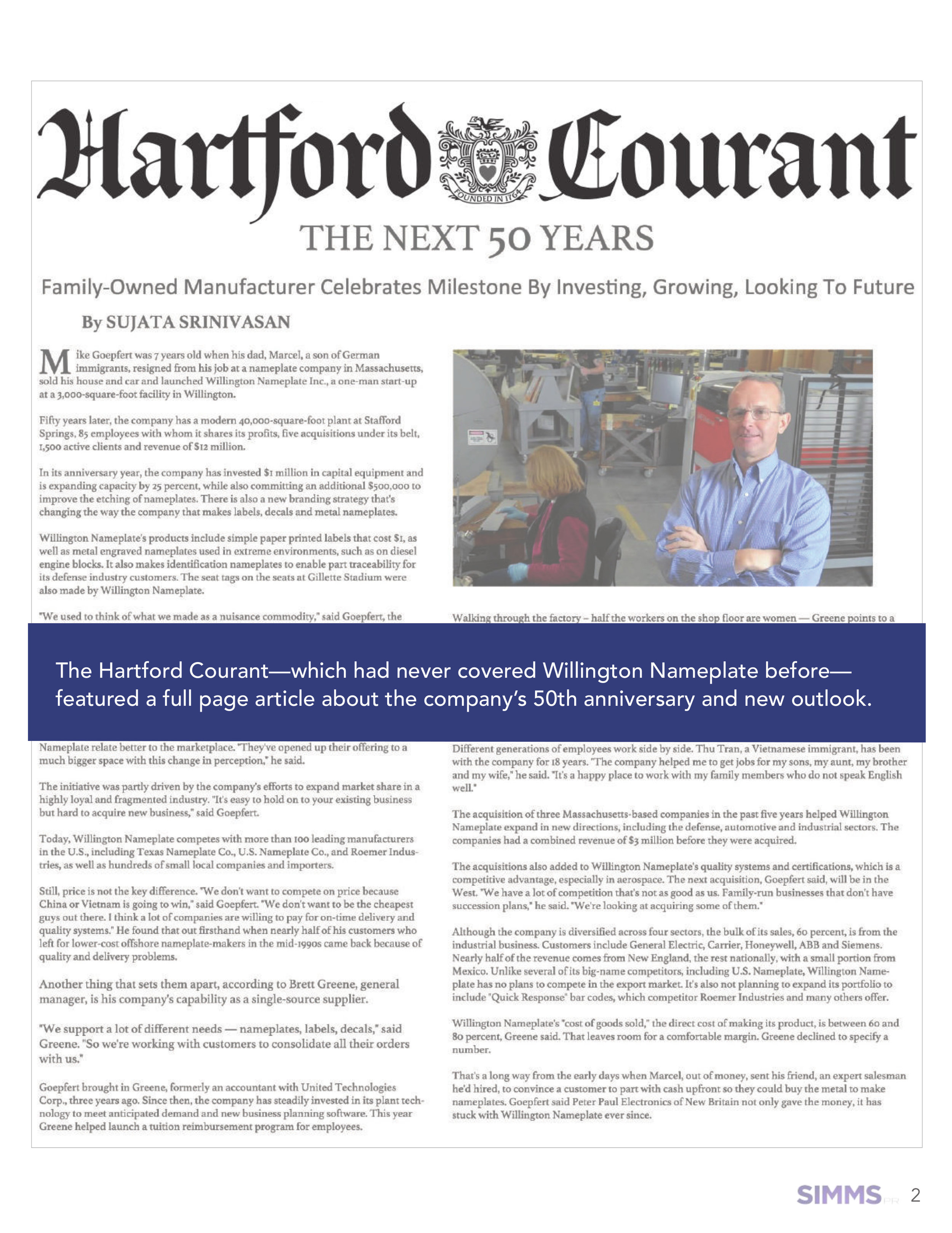 Read this article on the  Hartford Courant website .