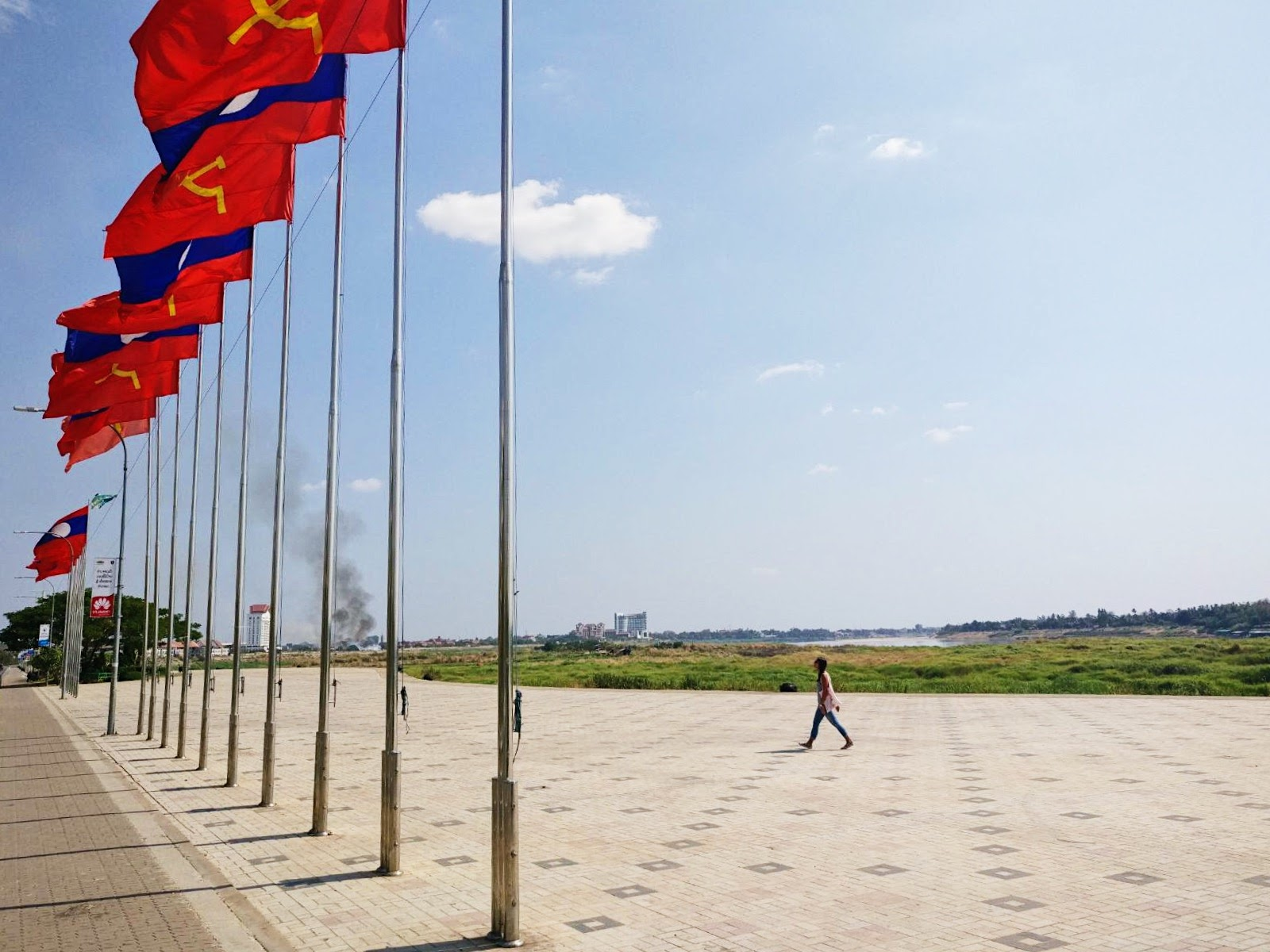 Image: Visiting Vientiane - What to do: Flags