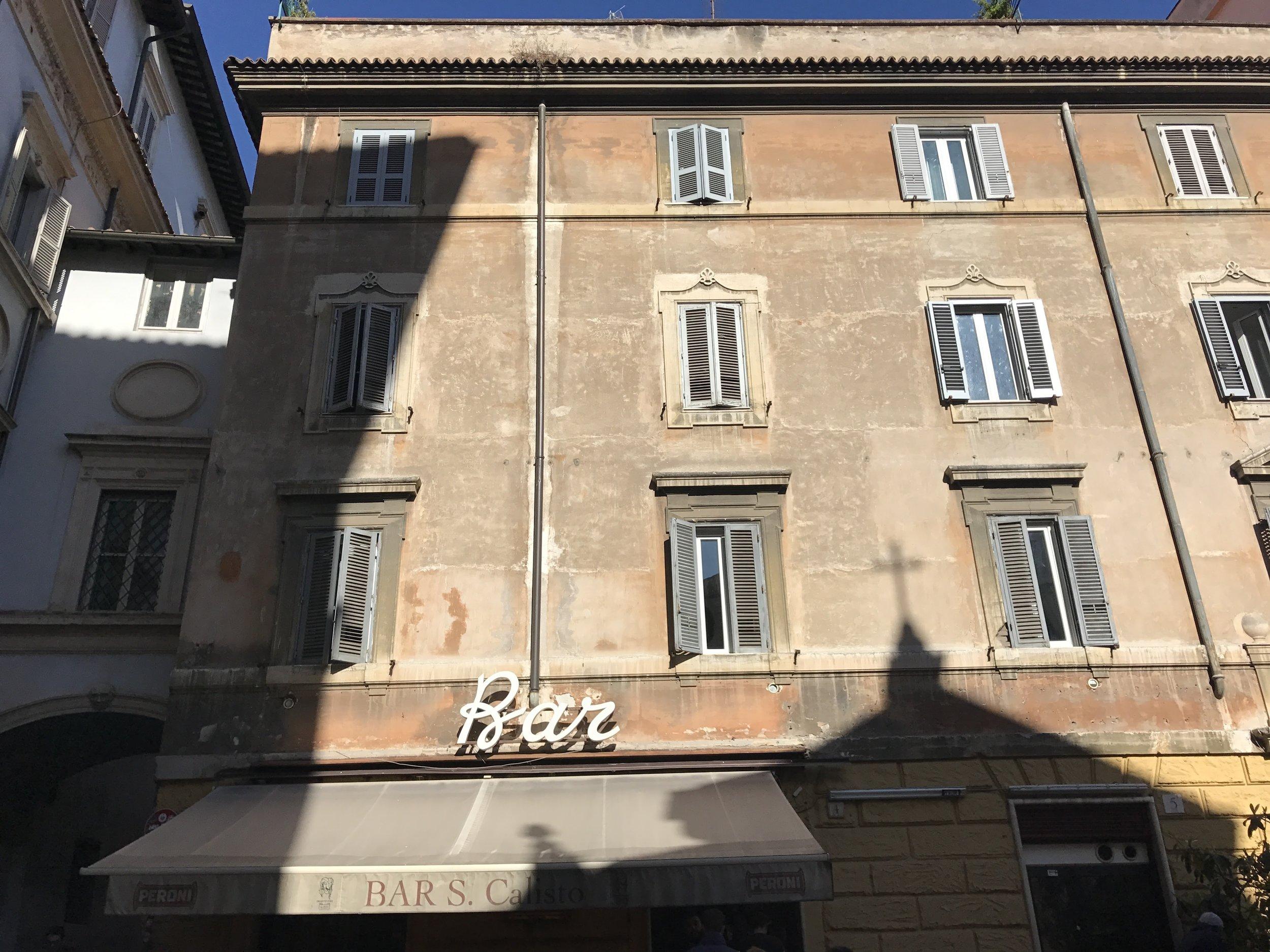 Image: Eating in Rome - Bar San Calisto Trastevere