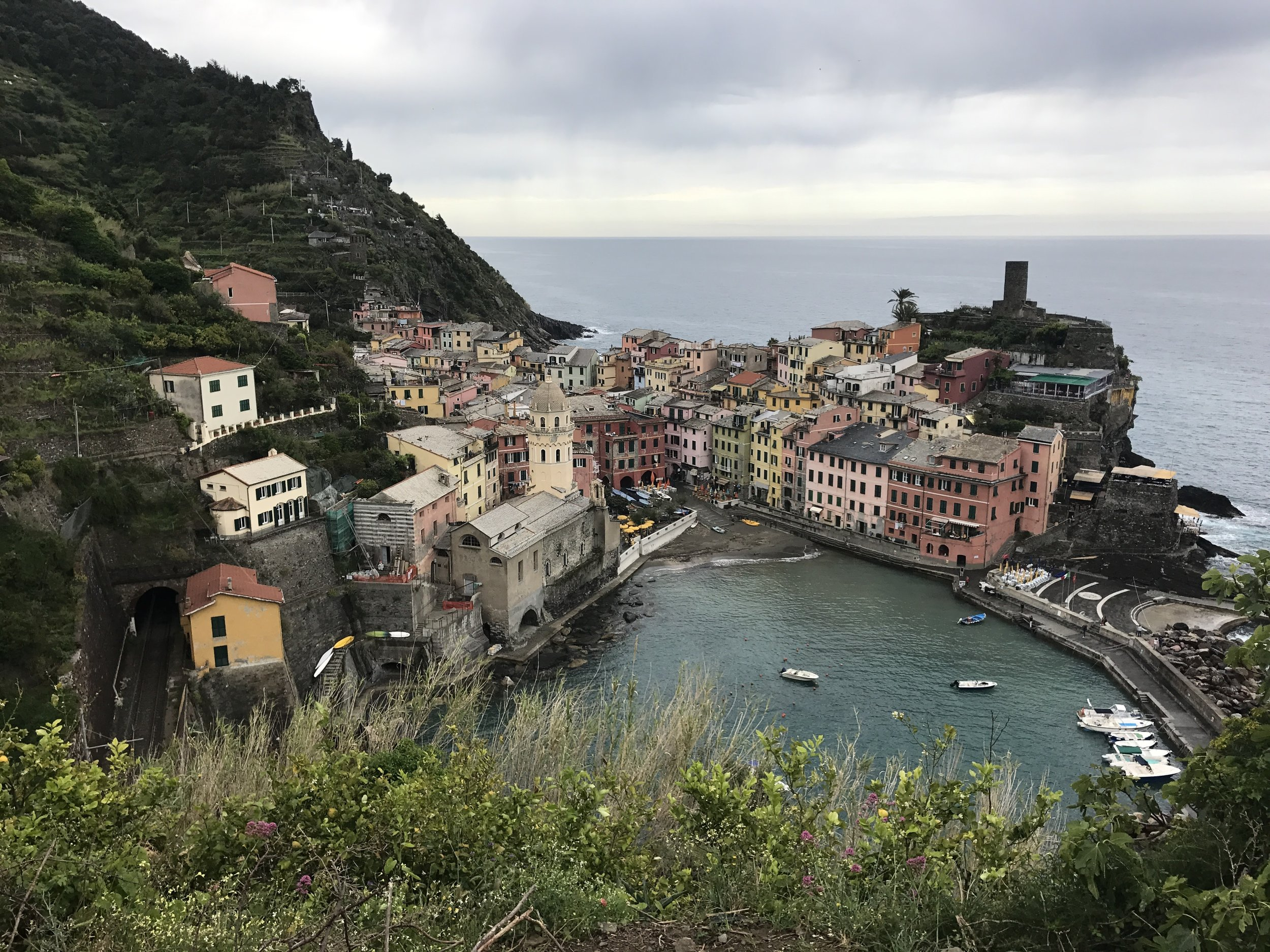 A view from Vernazza on the way to Monterosso Al Mare