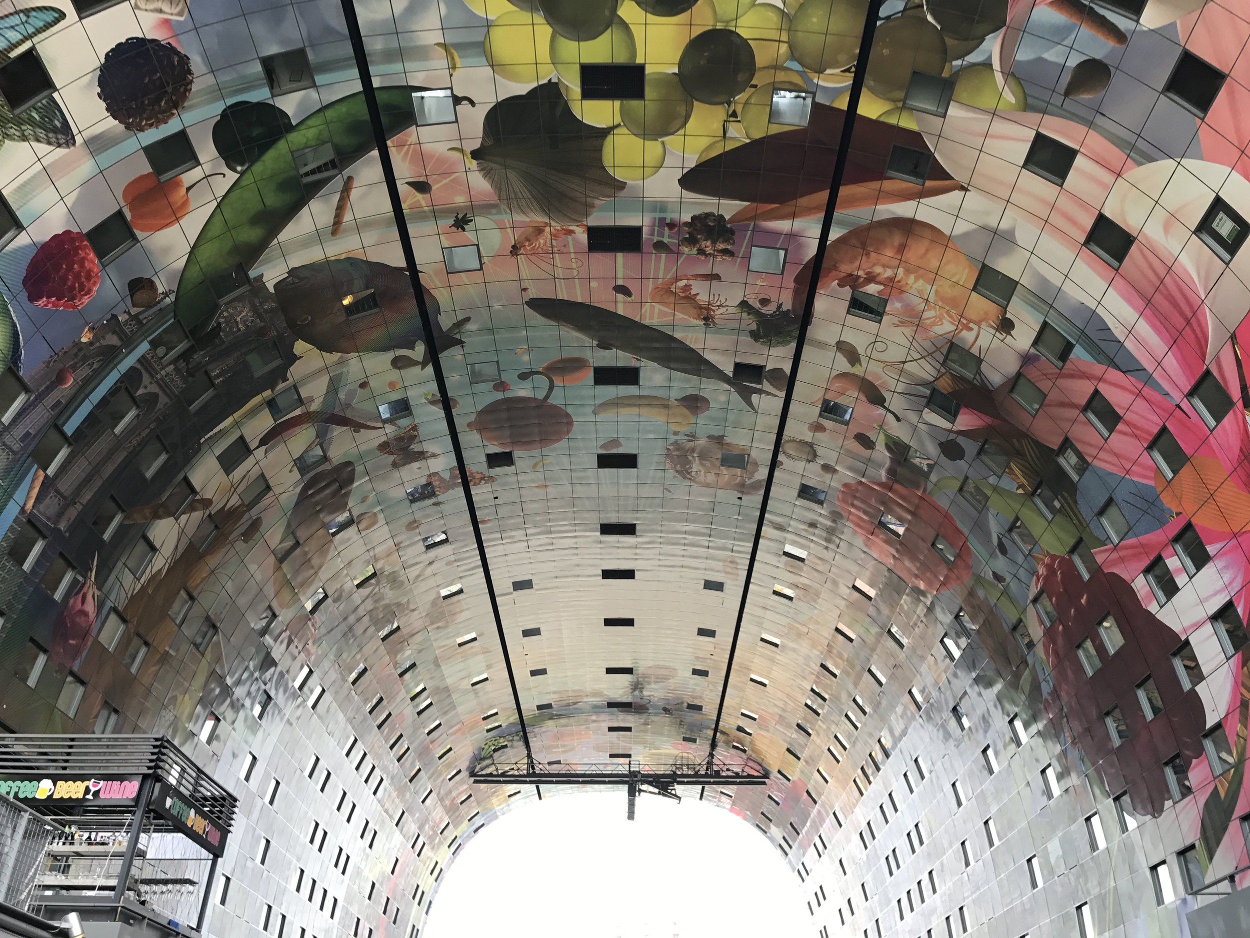 Looking up at Markthal