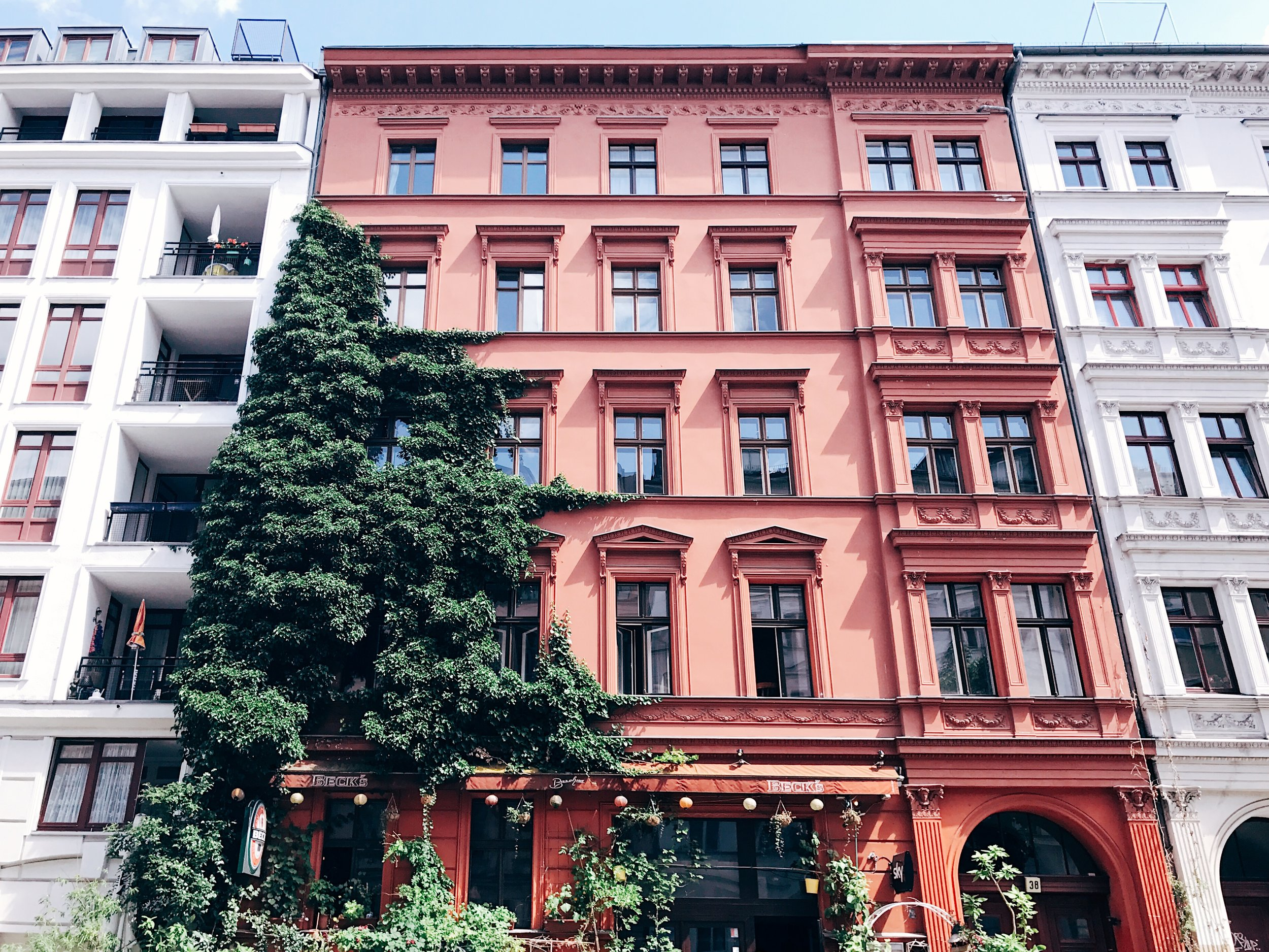 Kreuzberg neighborhood, where you can find Ernst bar and many other great restaurants and bars