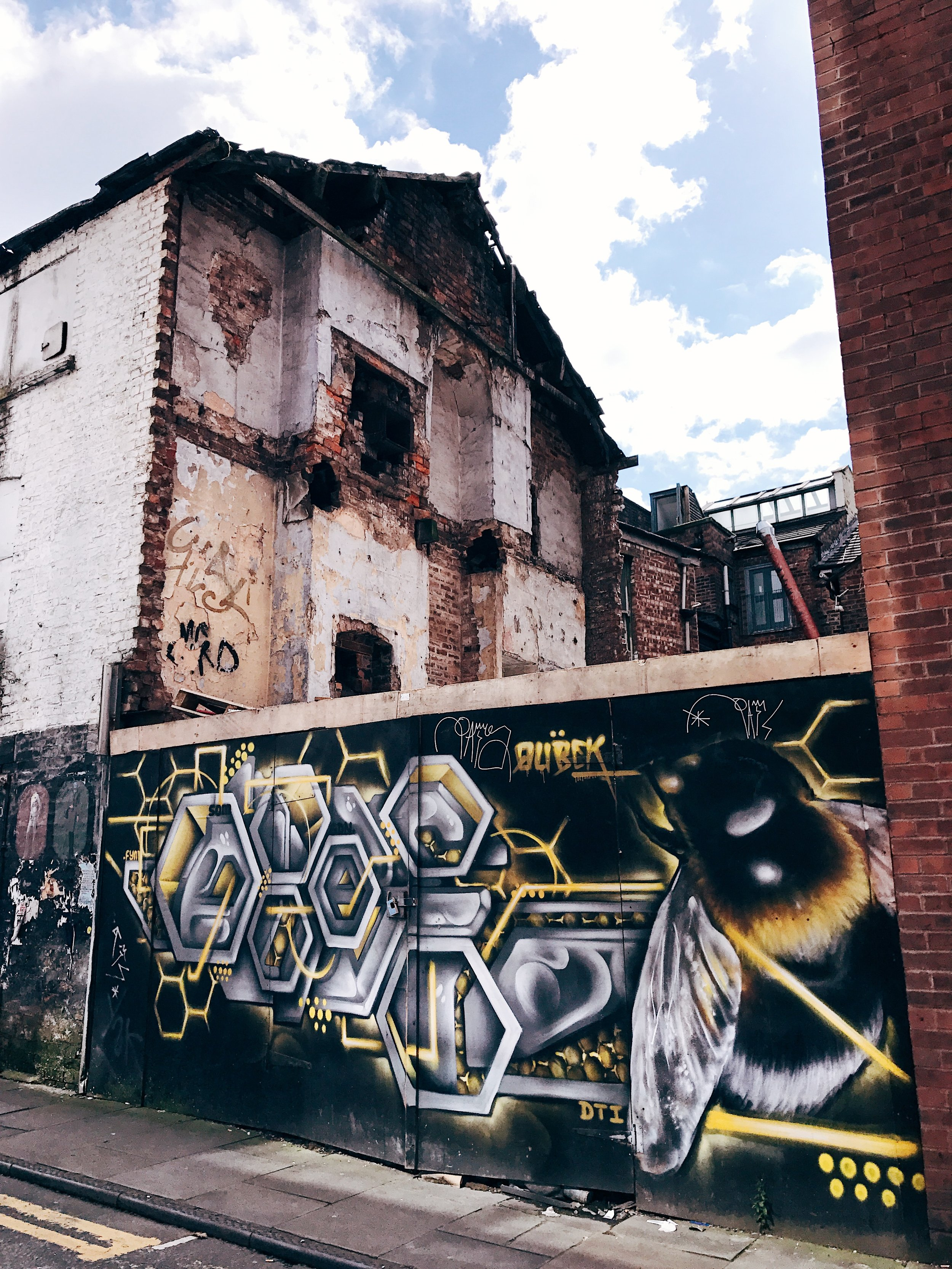 The Worker Bee, a symbol for the city since the Industrial Revolution, can be found throughout the city.