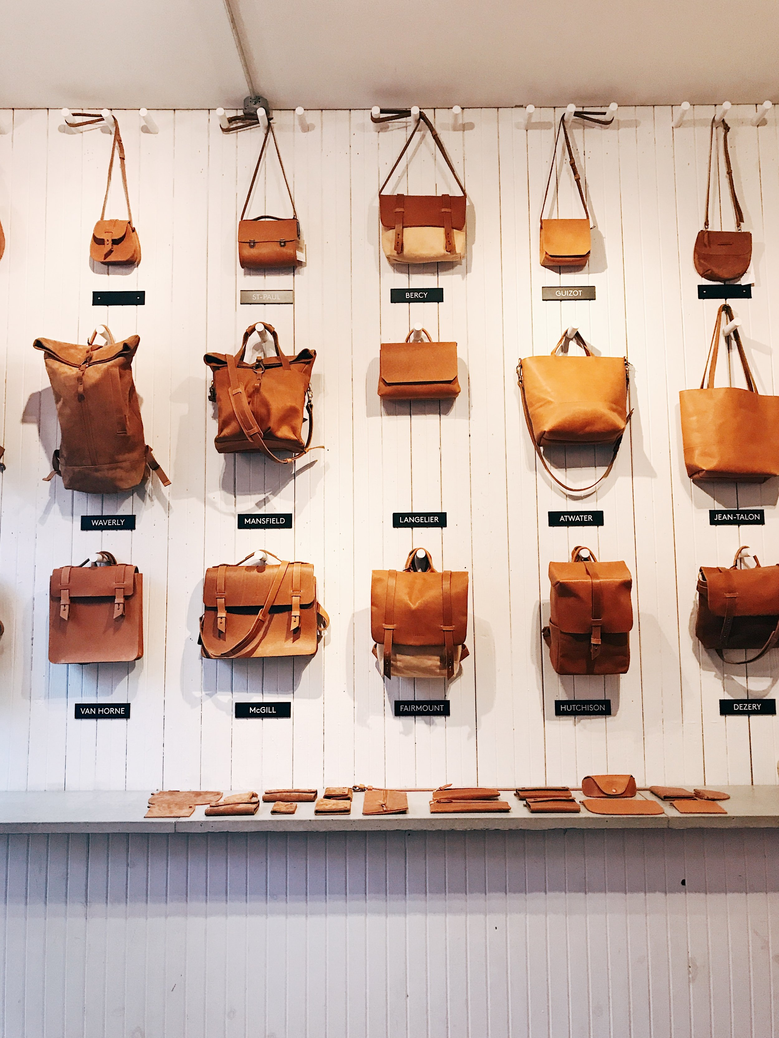 Image: New Obsession: LOWELL Montreal: Leather Bags