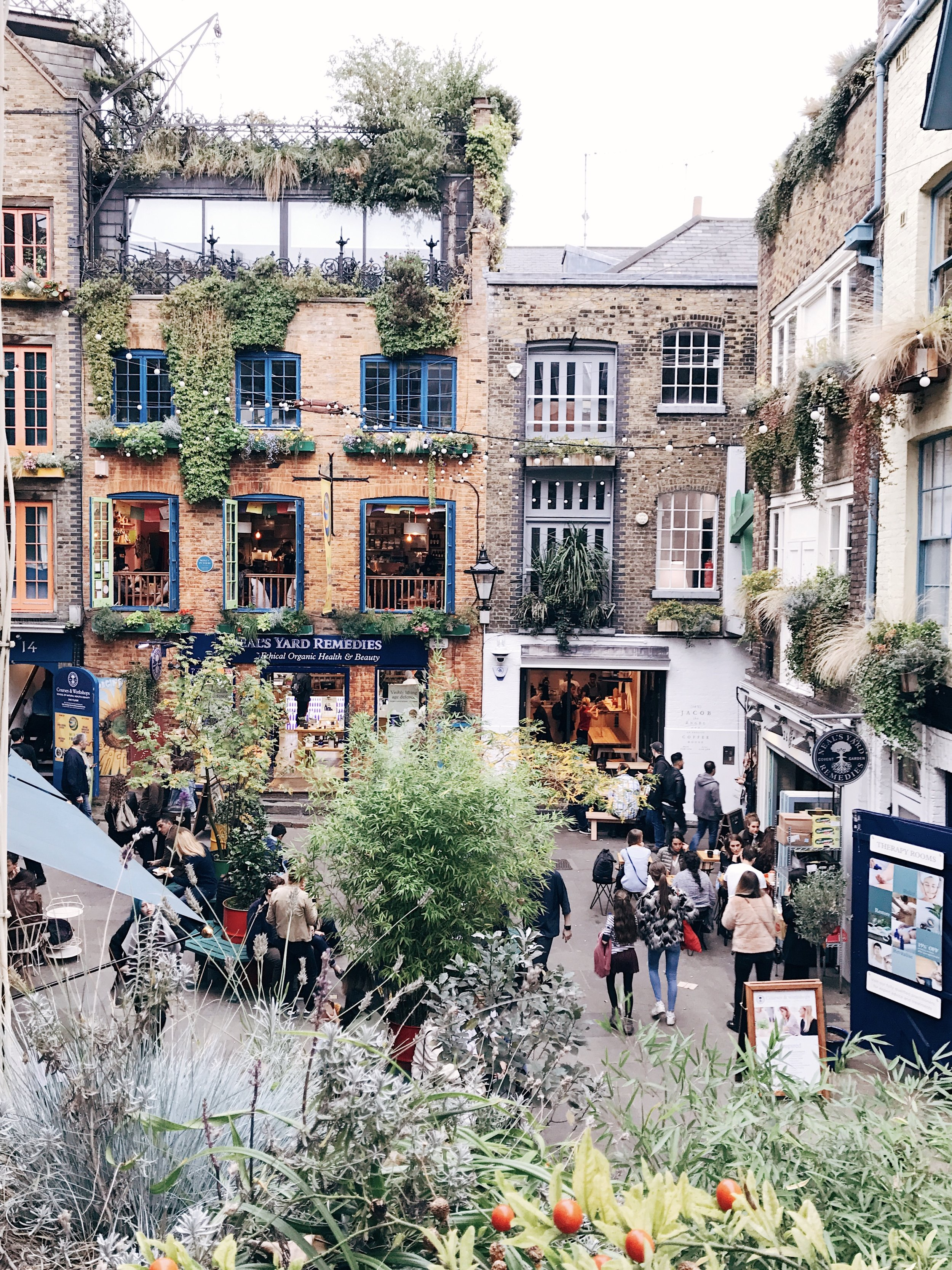 A view of Neal's Yard from Casanova & Daughters