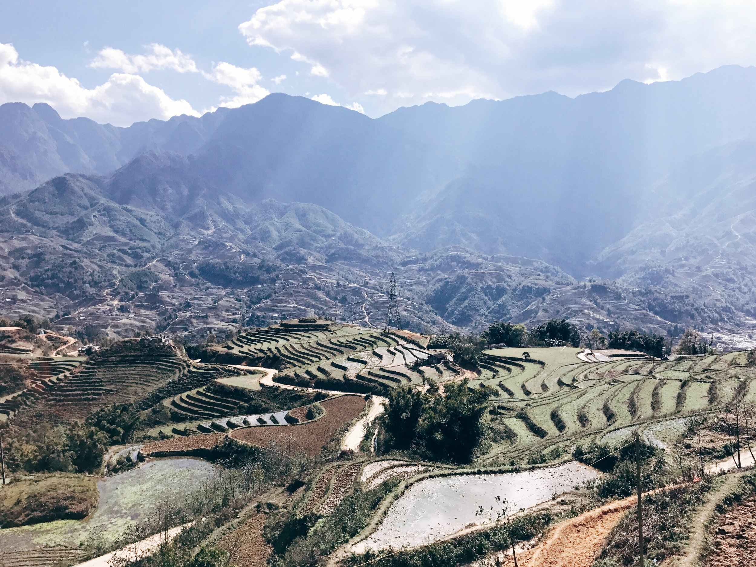 The view of the trail from Sapa Clay House