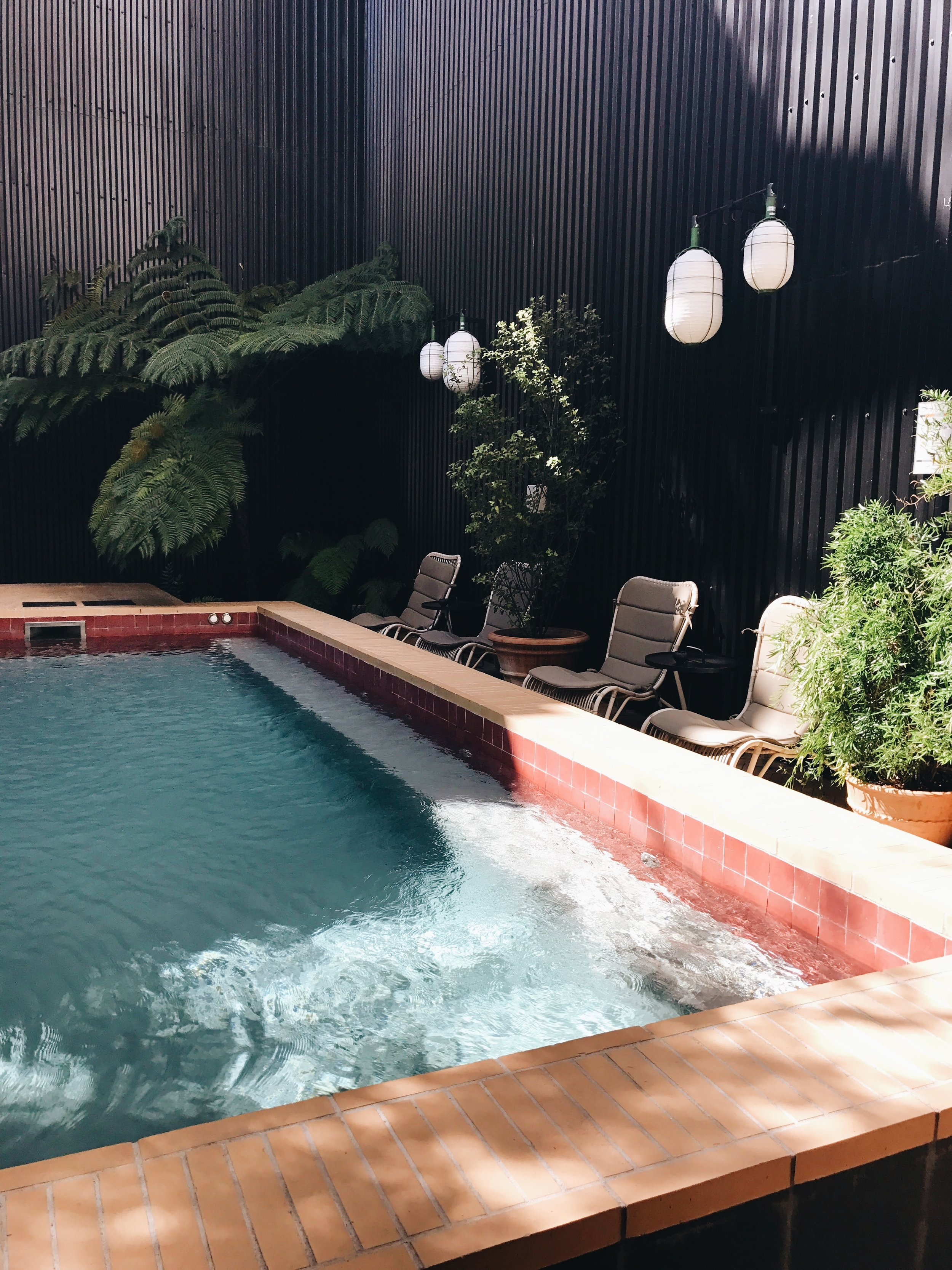 The pool at Valverde Hotel