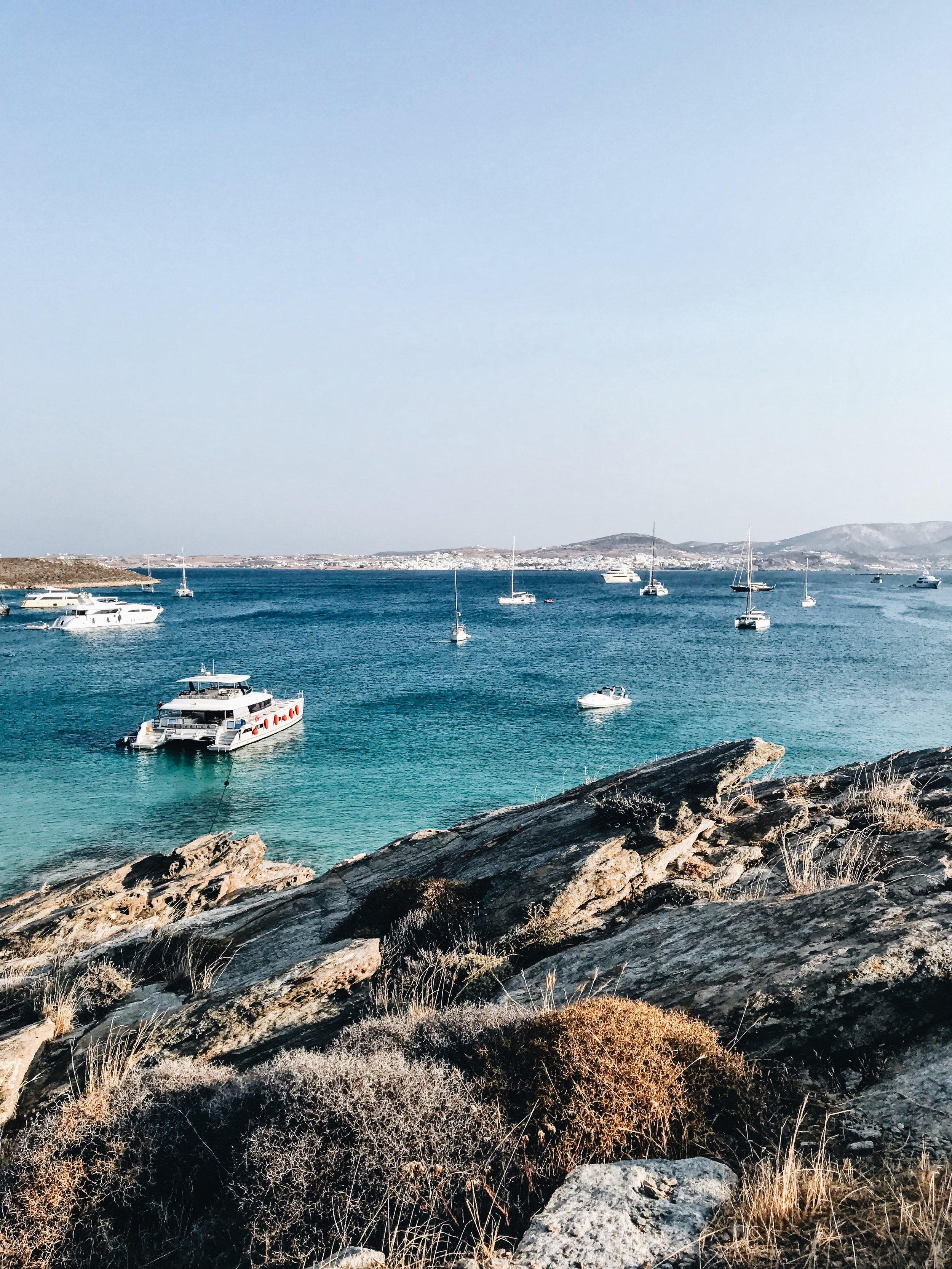 The secluded beach a few minutes walk from Monastiri beach on Paros
