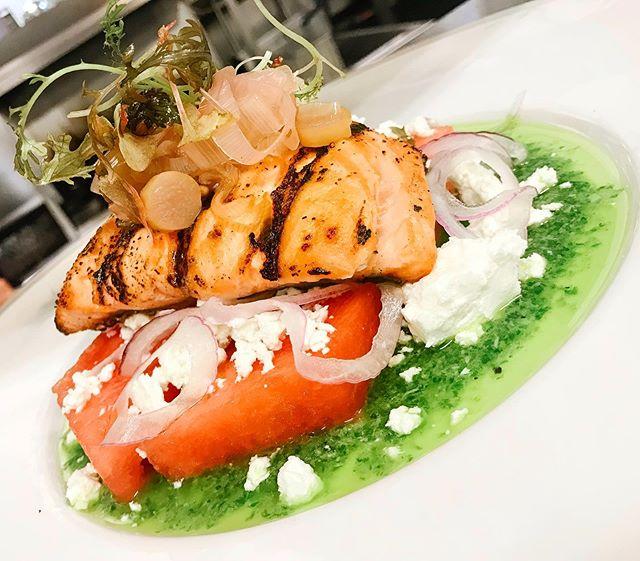 Summer Freshness🤤 #salmone #watermelonfeta