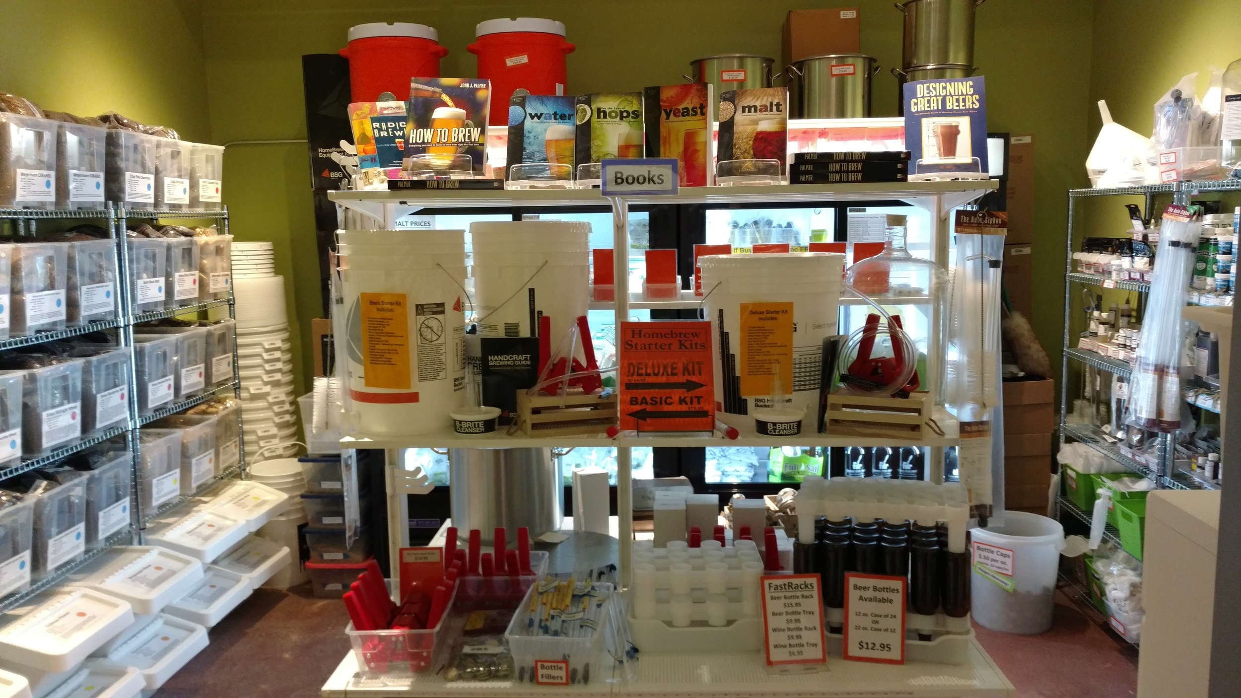 We pretty much have everything you need in our small yet mighty shop. If we don't have something, please let us know and we can order items for you!