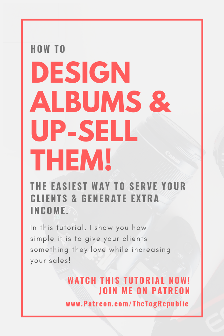 How to design albums and up-sell them