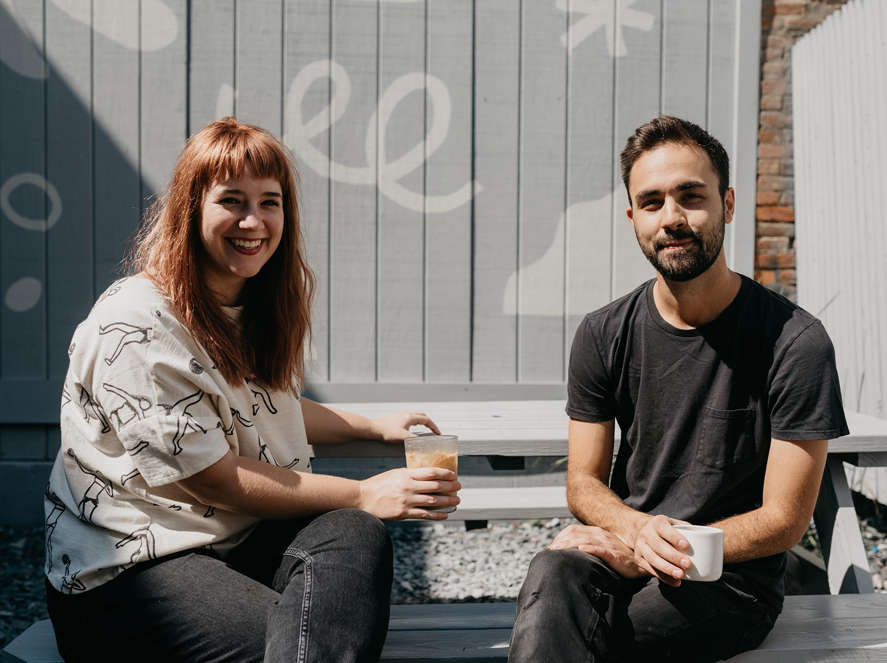 Co-owners Felicity Jones + Mike Romig