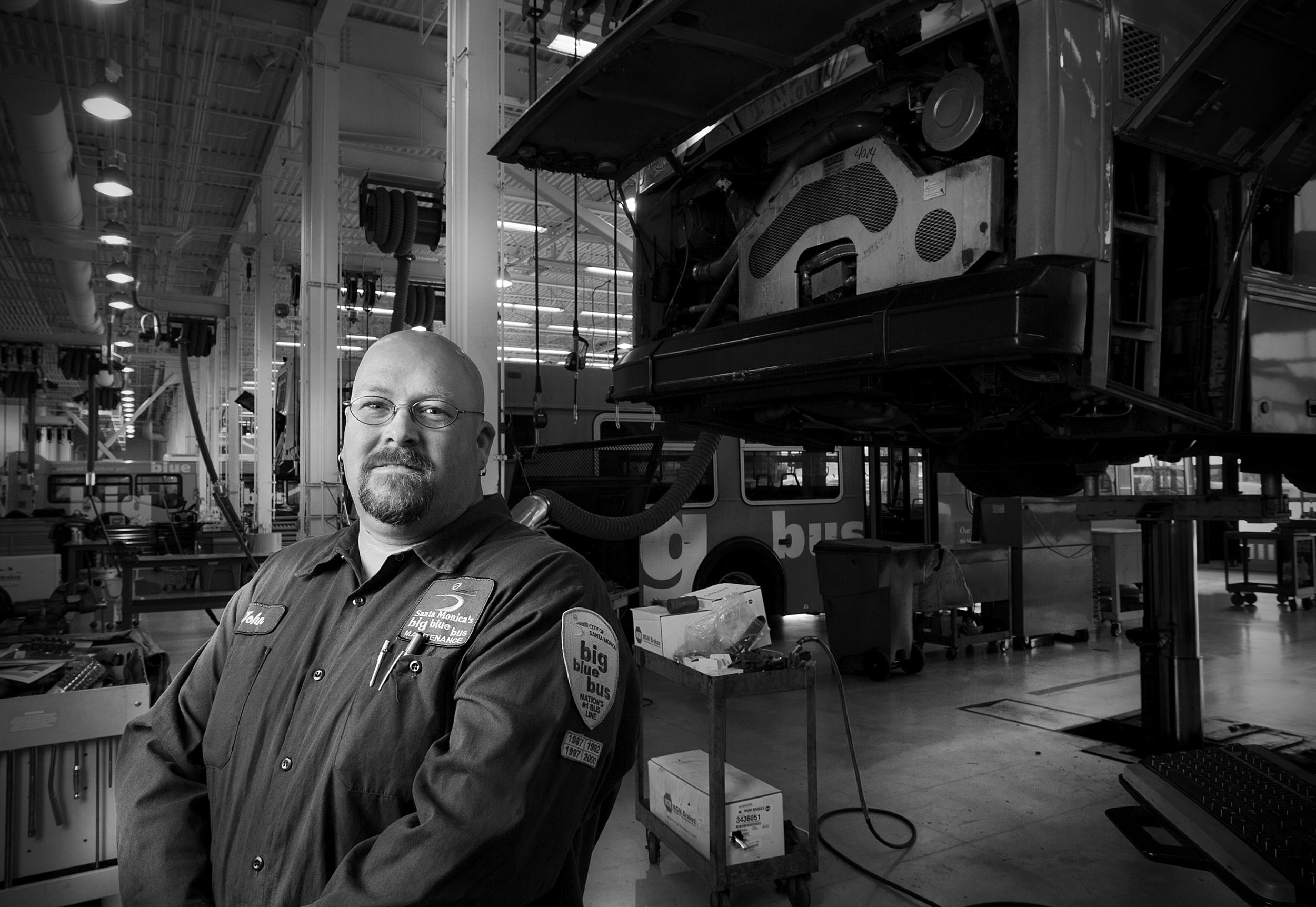 Big Blue Bus Mechanic by Kimball Hall